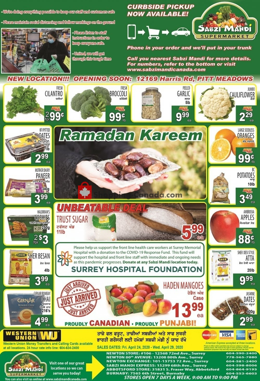 Flyer Sabzi Mandi Supermarket Canada - from Friday April 24, 2020 to Wednesday April 29, 2020