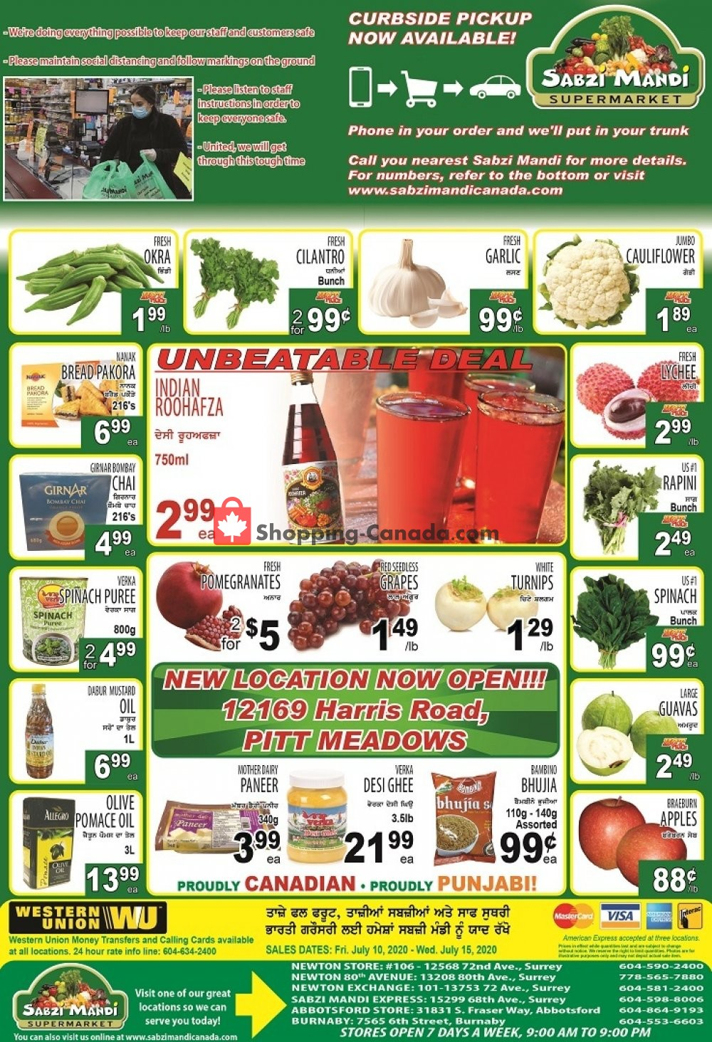 Flyer Sabzi Mandi Supermarket Canada - from Friday July 10, 2020 to Wednesday July 15, 2020