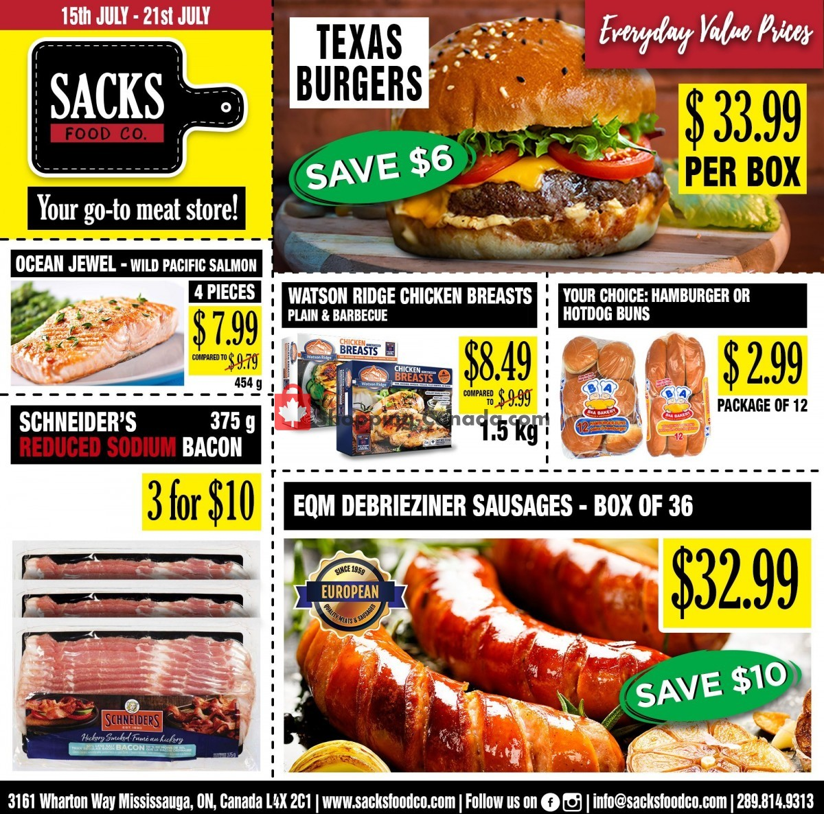 Flyer Sack Food Co. Canada - from Thursday July 15, 2021 to Wednesday July 21, 2021