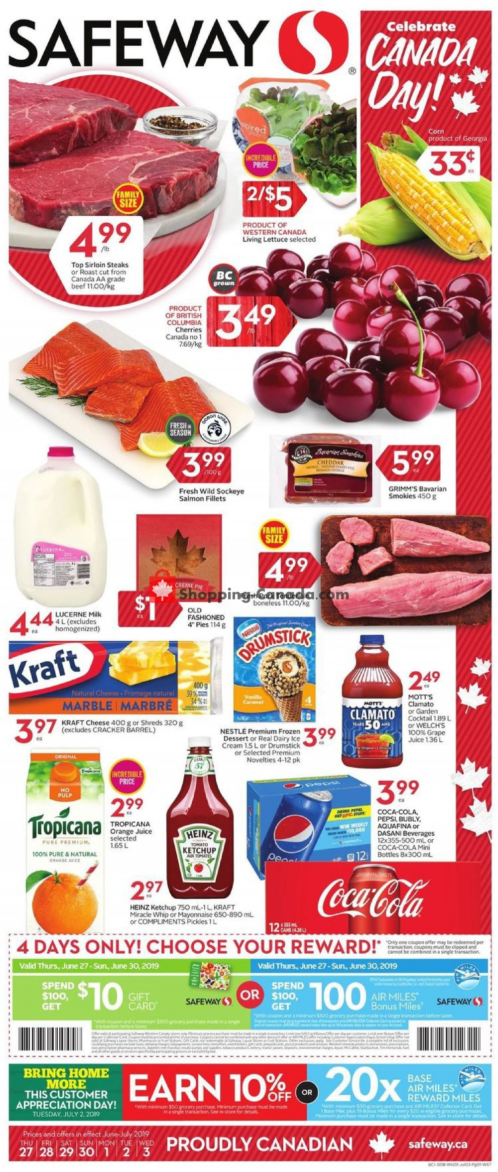 Flyer Safeway Canada - from Thursday June 27, 2019 to Wednesday July 3, 2019