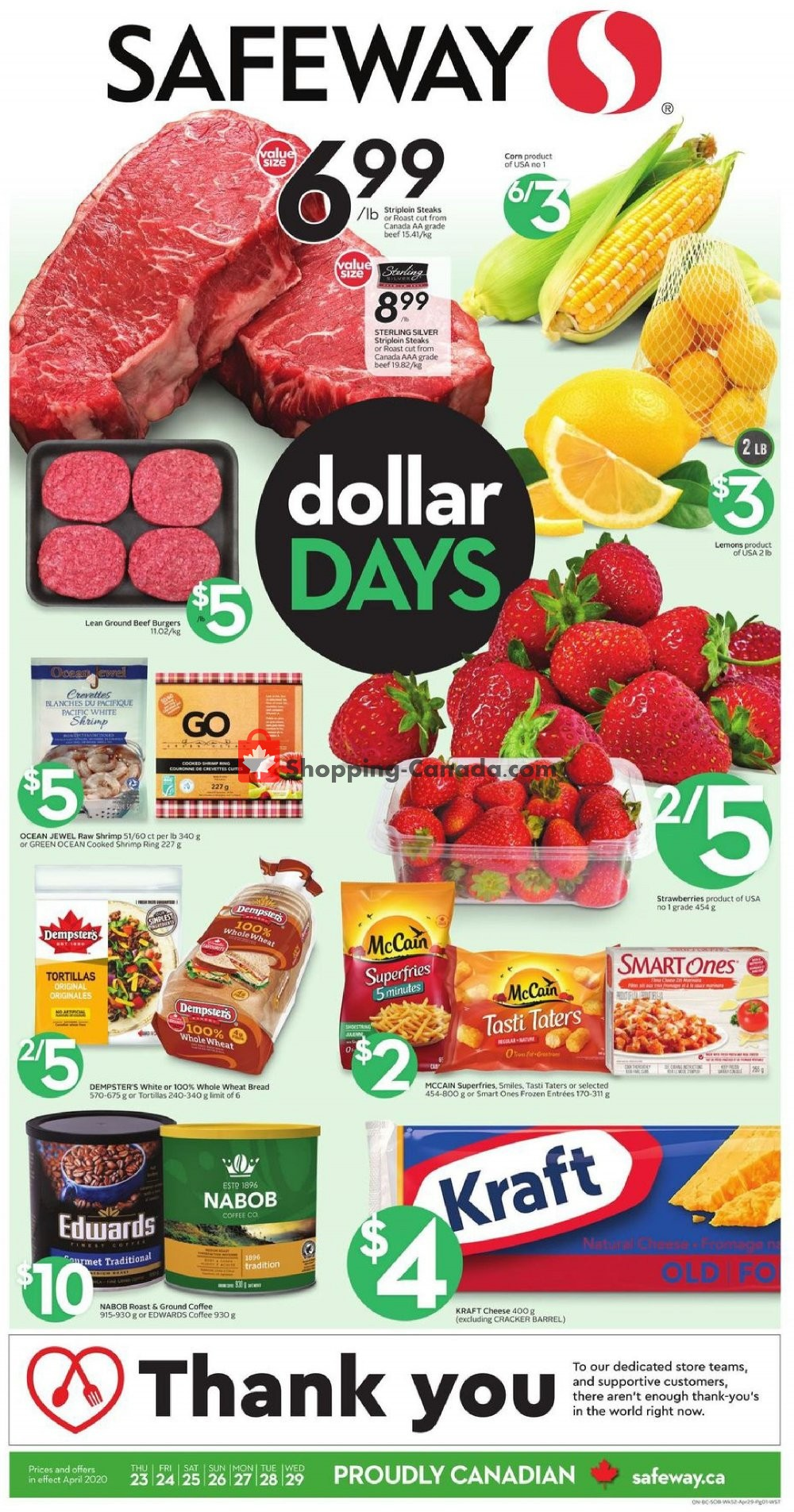 Flyer Safeway Canada - from Thursday April 23, 2020 to Wednesday April 29, 2020