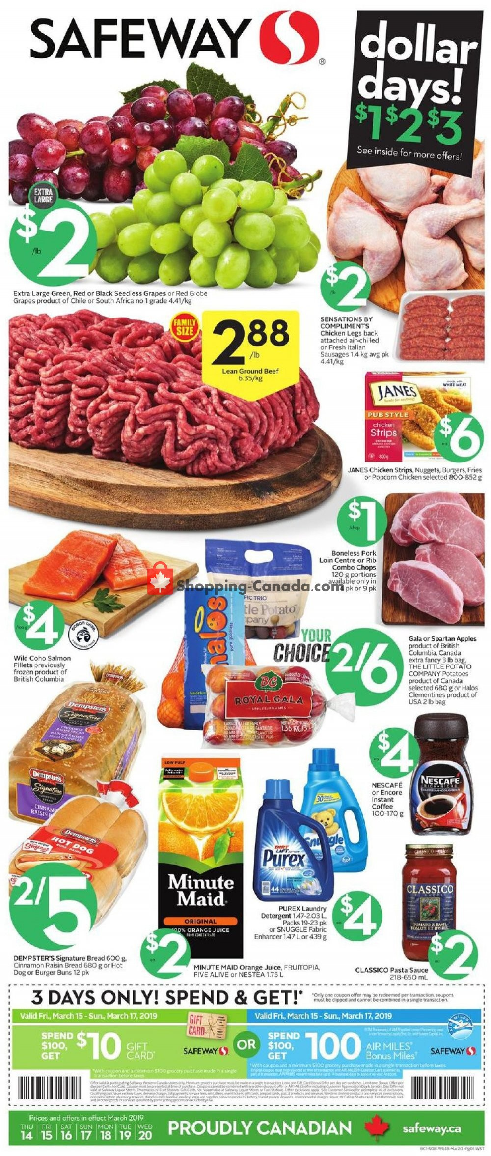 Flyer Safeway Canada - from Thursday March 14, 2019 to Wednesday March 20, 2019