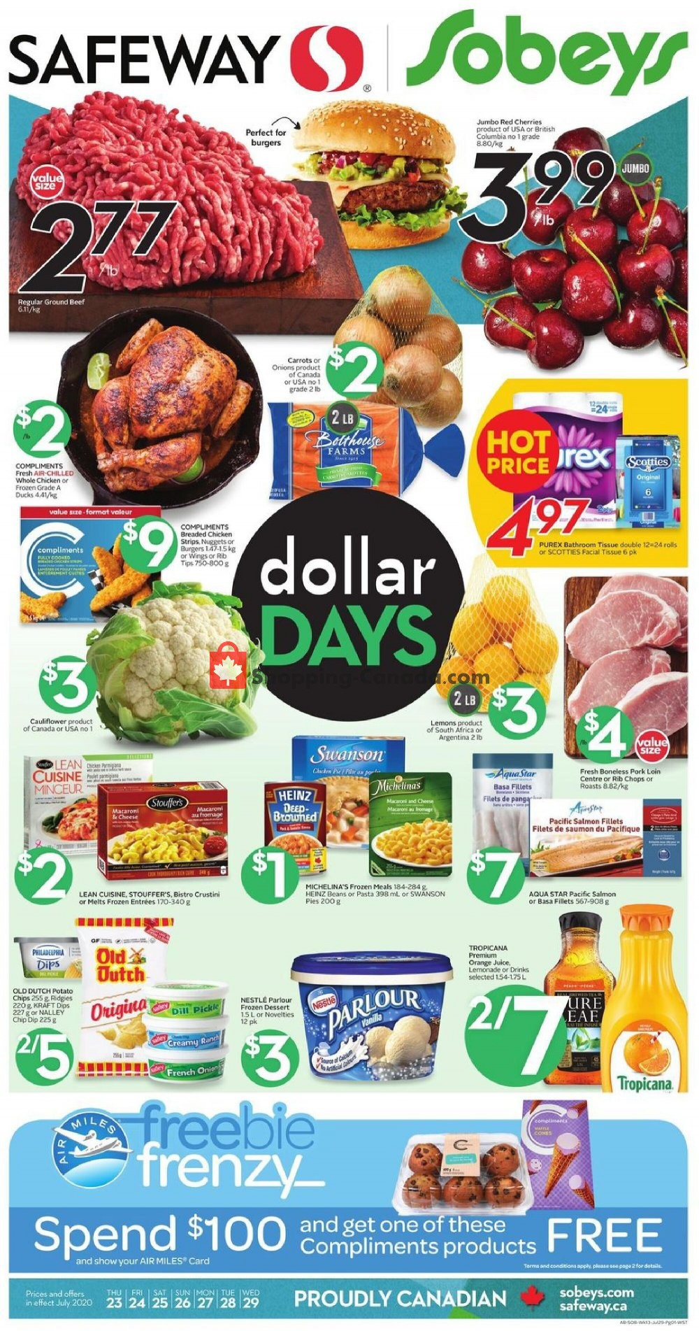 Flyer Safeway Canada - from Thursday July 23, 2020 to Wednesday July 29, 2020