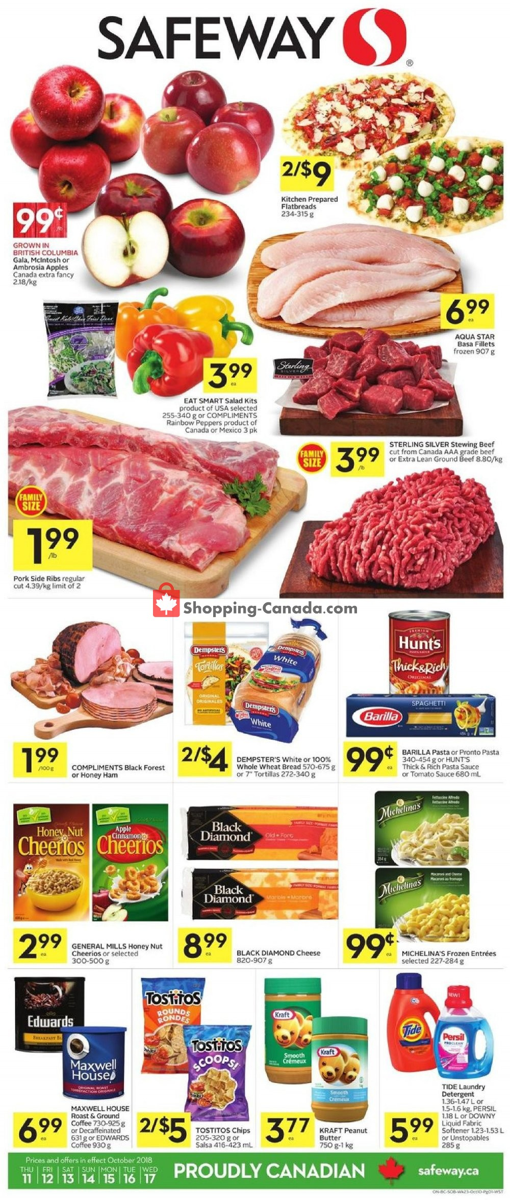 Flyer Safeway Canada - from Thursday October 11, 2018 to Wednesday October 17, 2018