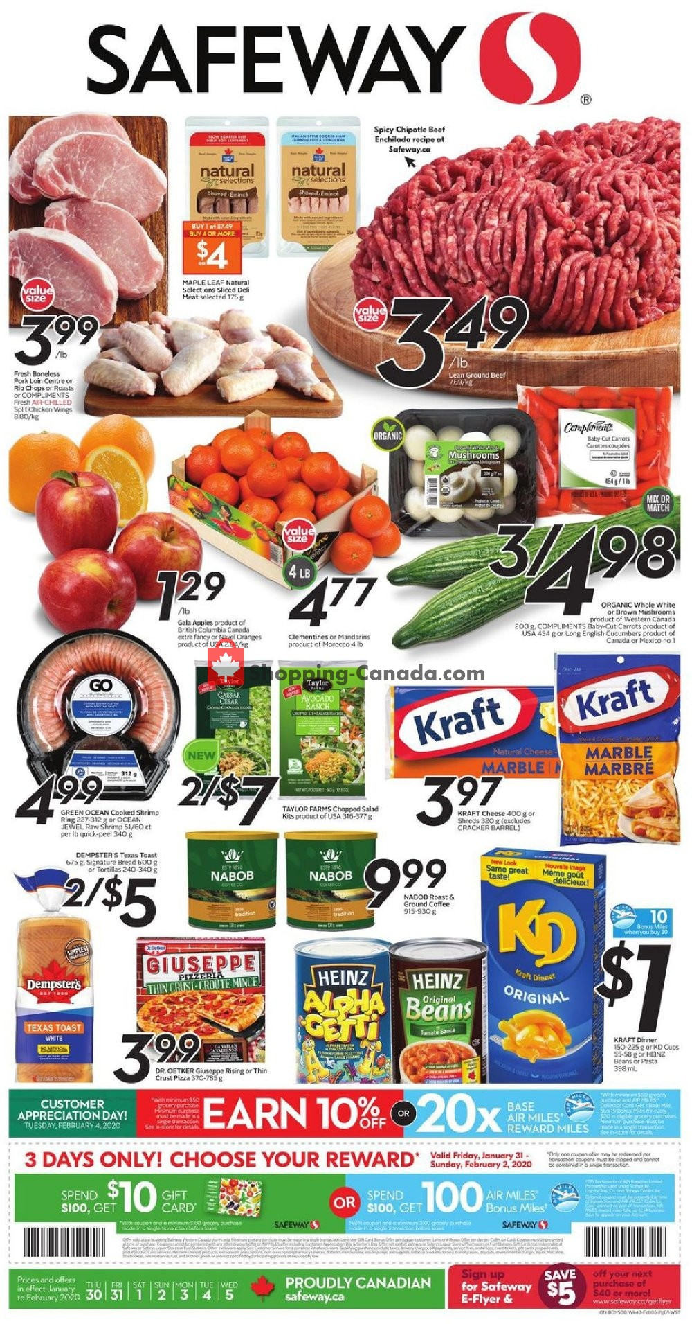 Flyer Safeway Canada - from Thursday January 30, 2020 to Wednesday February 5, 2020
