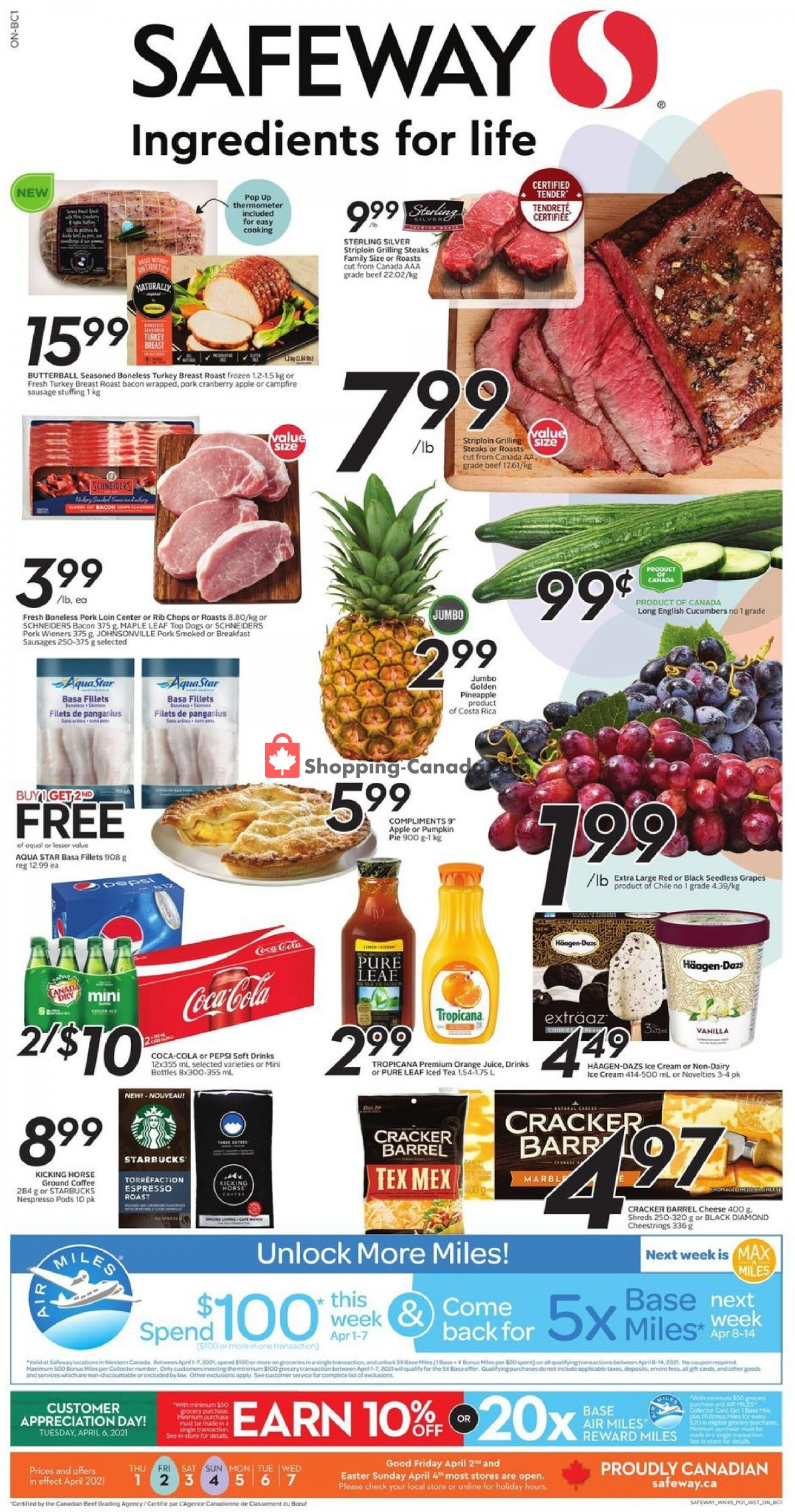 Flyer Safeway Canada - from Thursday April 1, 2021 to Wednesday April 7, 2021