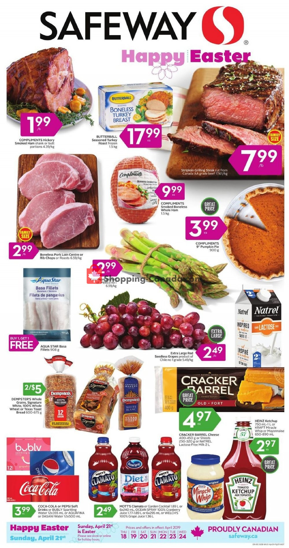 Flyer Safeway Canada - from Thursday April 18, 2019 to Wednesday April 24, 2019