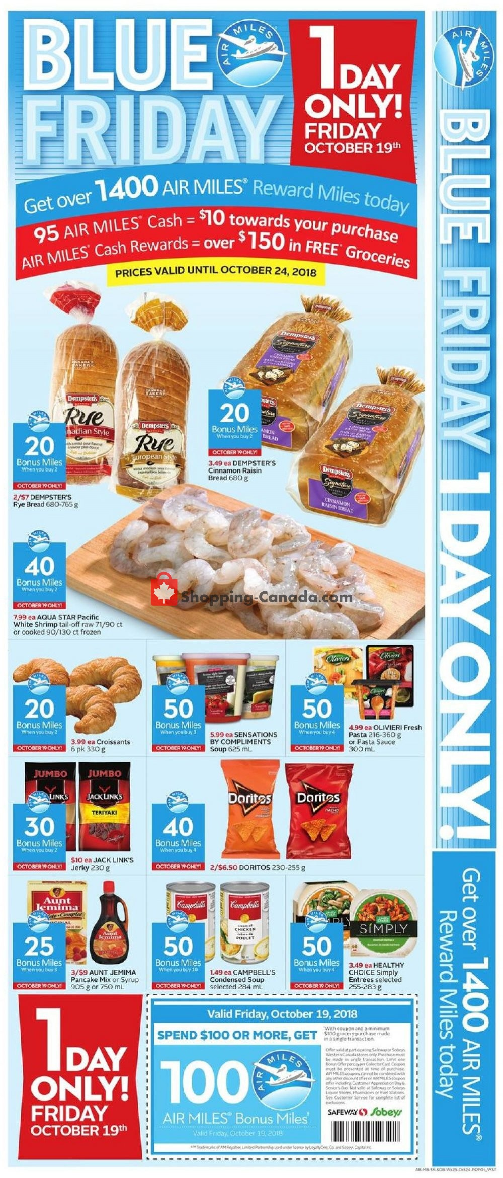 Flyer Safeway Canada - from Thursday October 18, 2018 to Wednesday October 24, 2018
