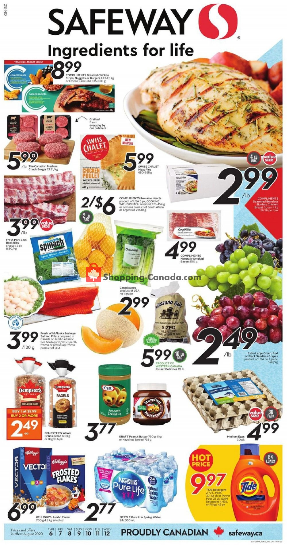 Flyer Safeway Canada - from Thursday August 6, 2020 to Wednesday August 12, 2020