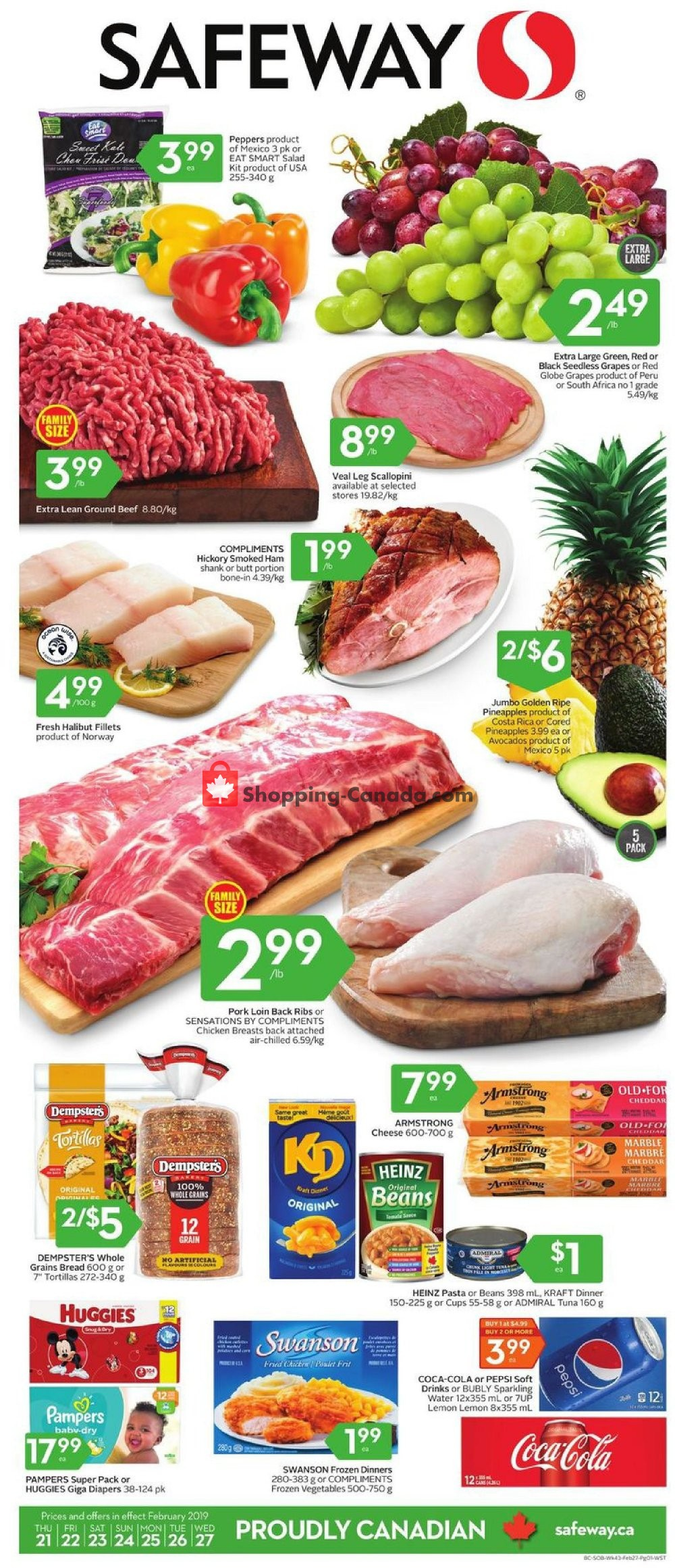 Flyer Safeway Canada - from Thursday February 21, 2019 to Wednesday February 27, 2019