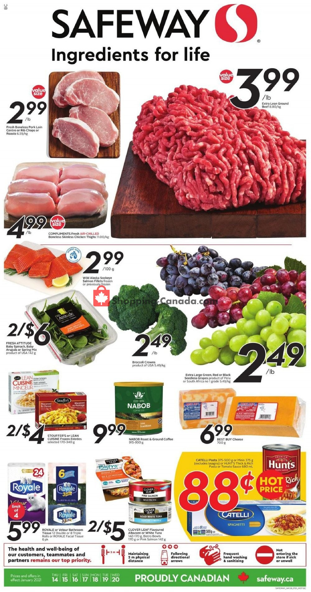 Flyer Safeway Canada - from Thursday January 14, 2021 to Wednesday January 20, 2021