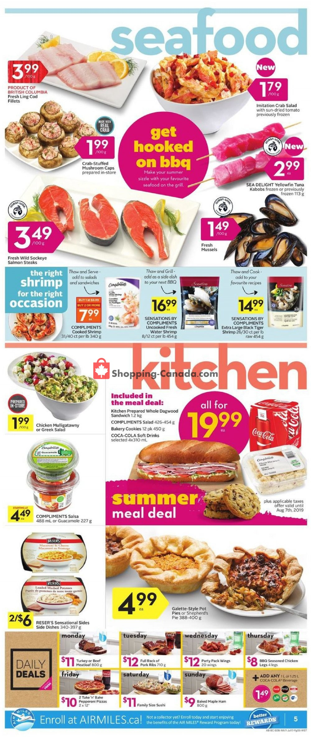 Flyer Safeway Canada - from Thursday July 11, 2019 to Wednesday July 17, 2019