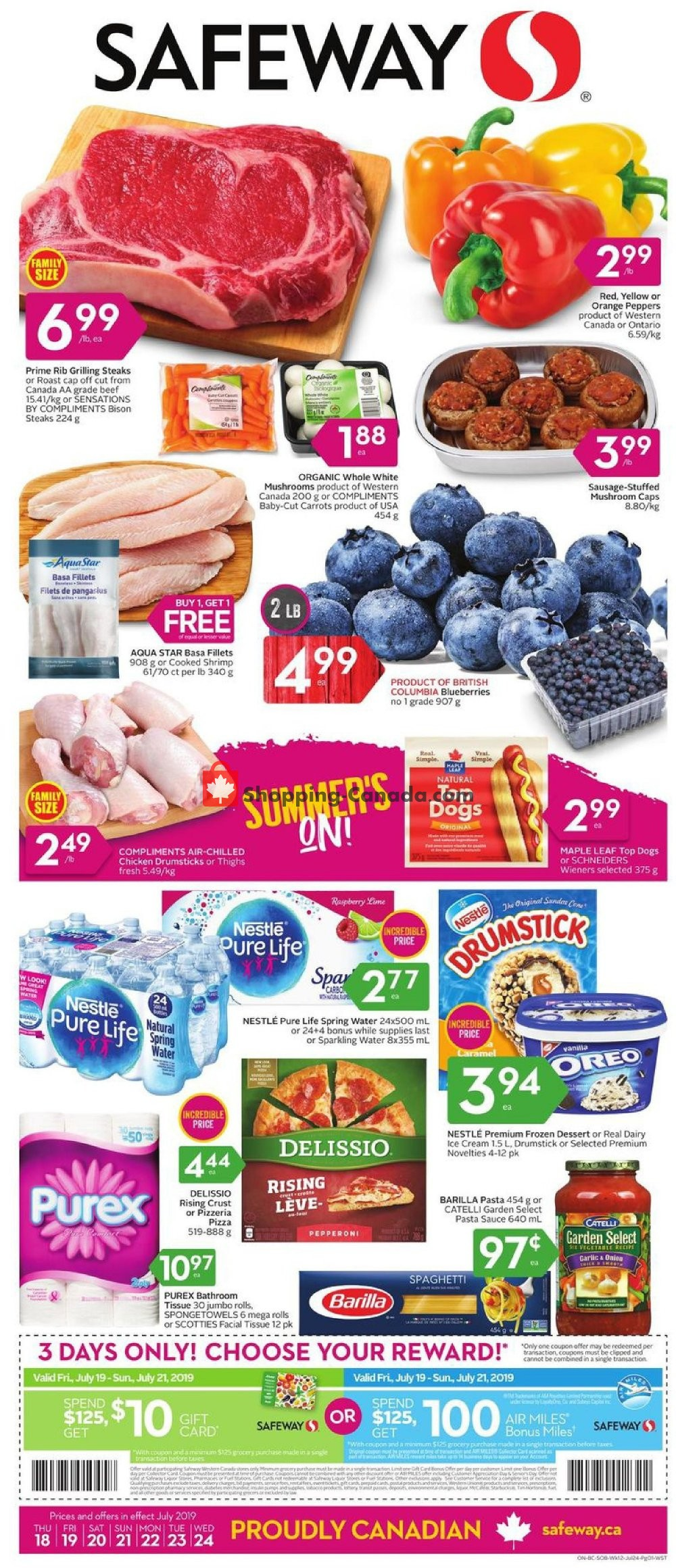 Flyer Safeway Canada - from Thursday July 18, 2019 to Wednesday July 24, 2019