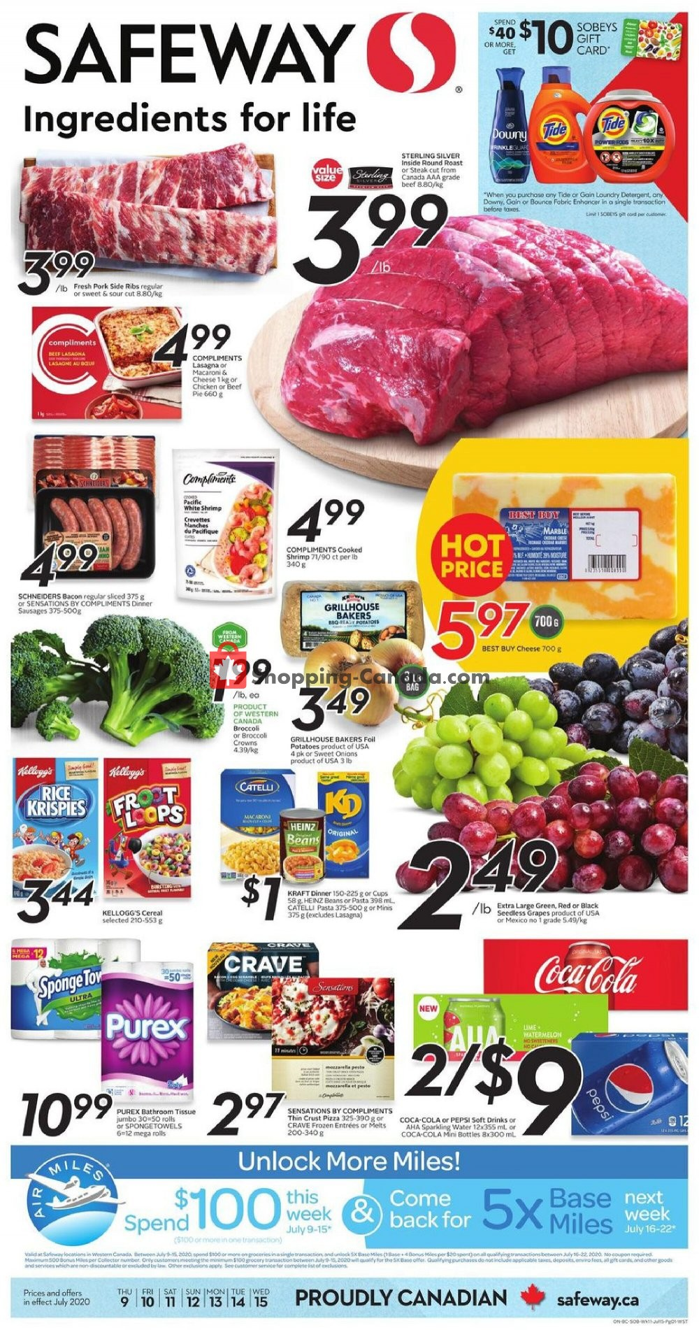 Flyer Safeway Canada - from Thursday July 9, 2020 to Wednesday July 15, 2020