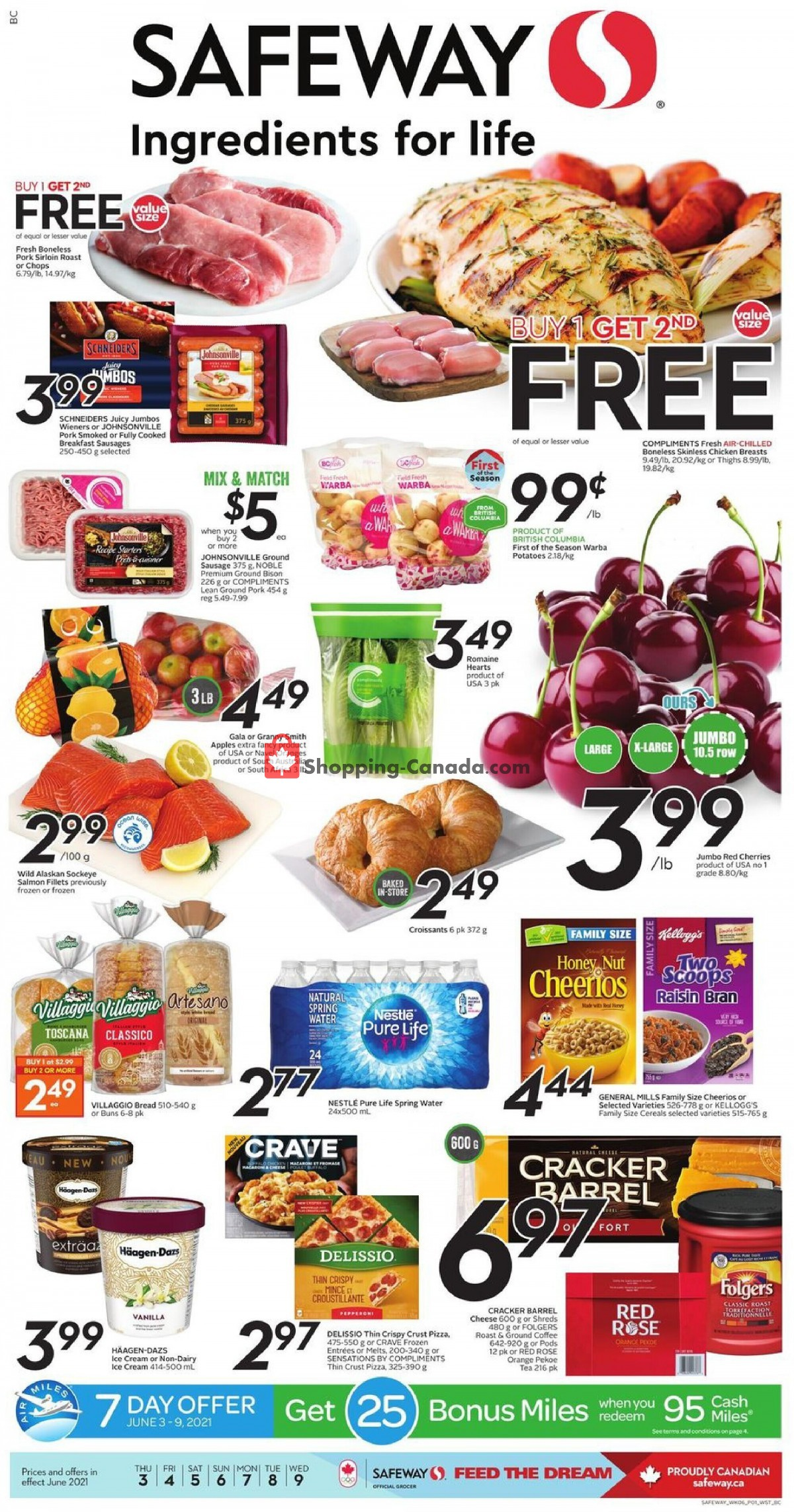 Flyer Safeway Canada - from Thursday June 3, 2021 to Wednesday June 9, 2021