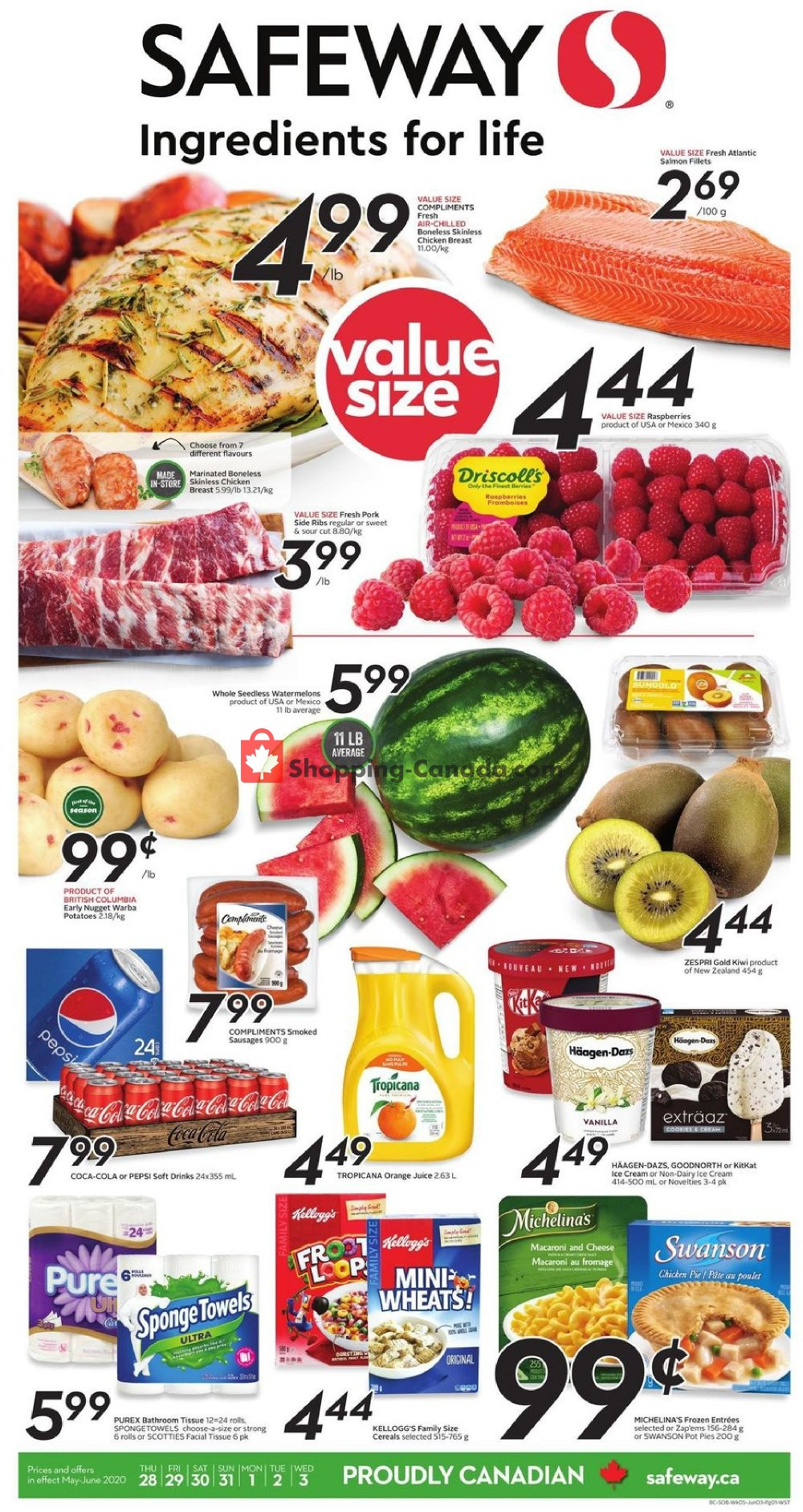 Flyer Safeway Canada - from Thursday May 28, 2020 to Wednesday June 3, 2020