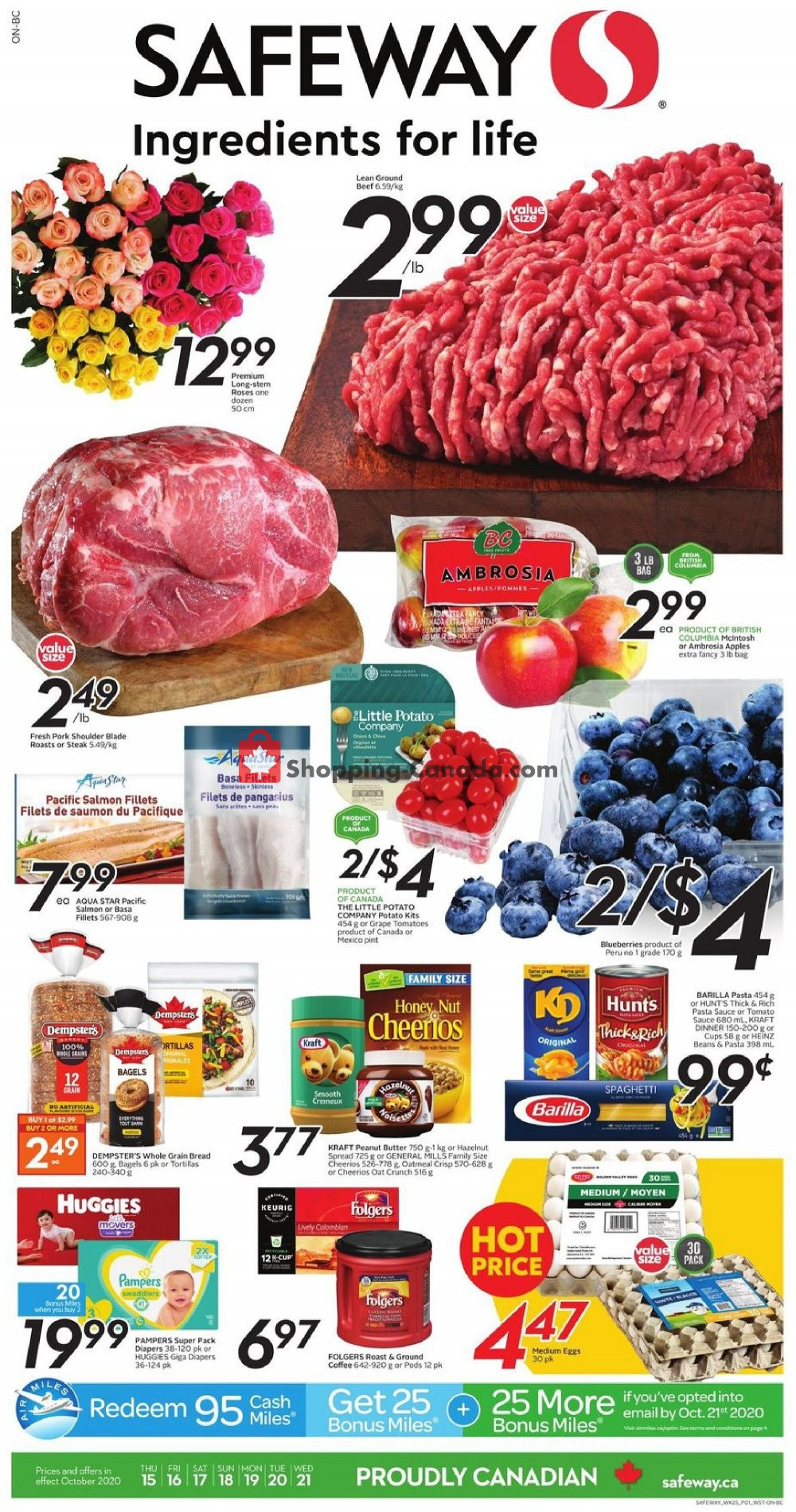 Flyer Safeway Canada - from Thursday October 15, 2020 to Wednesday October 21, 2020