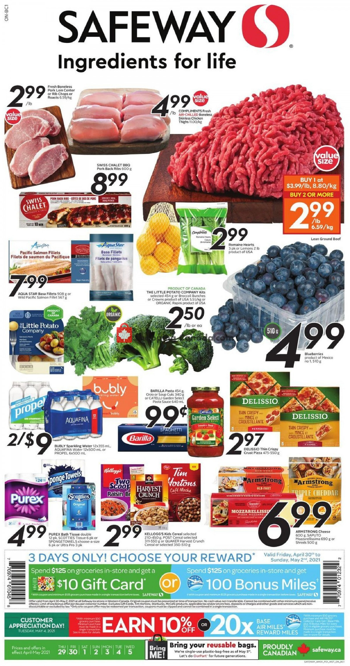 Flyer Safeway Canada - from Thursday April 29, 2021 to Wednesday May 5, 2021