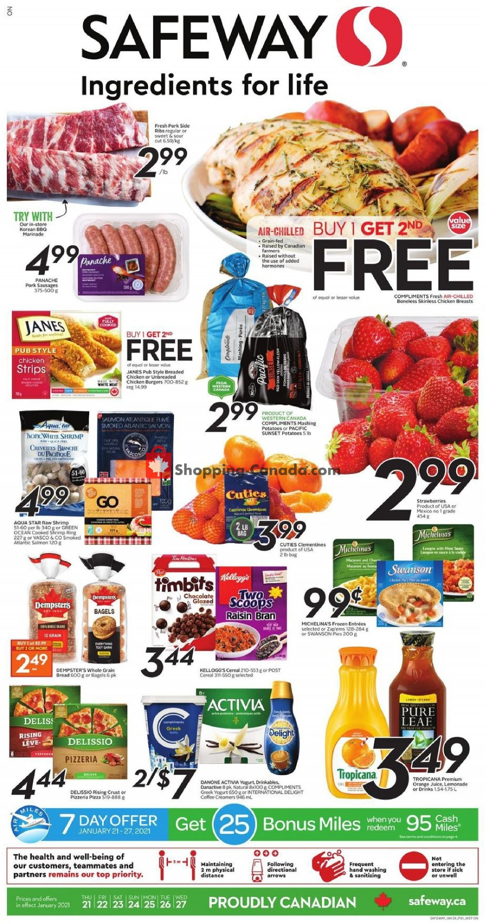 Flyer Safeway Canada - from Thursday January 21, 2021 to Wednesday January 27, 2021