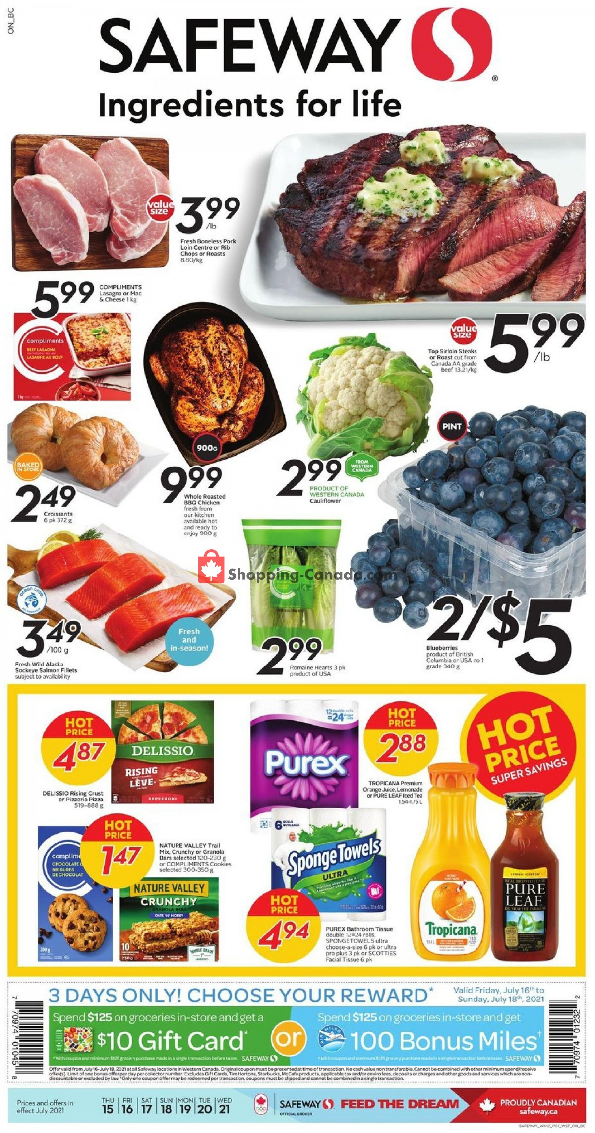 Flyer Safeway Canada - from Thursday July 15, 2021 to Wednesday July 21, 2021