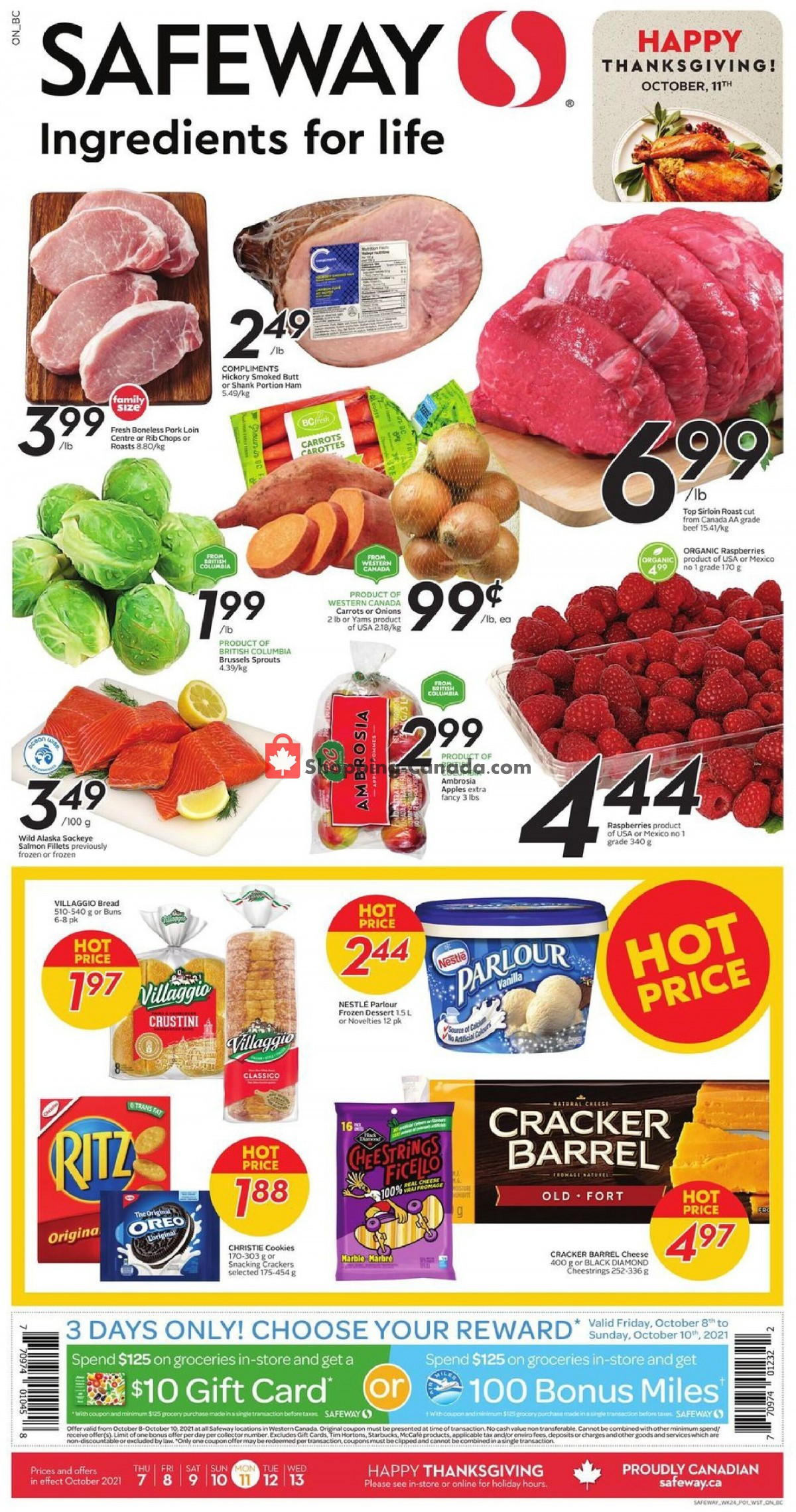 Flyer Safeway Canada - from Thursday October 7, 2021 to Wednesday October 13, 2021