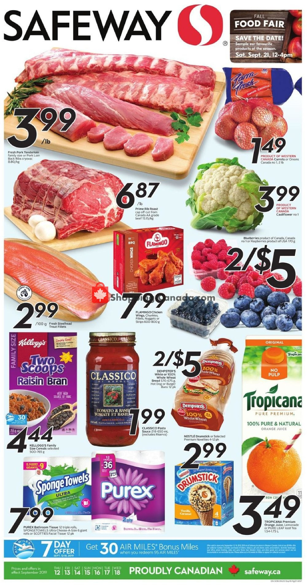 Flyer Safeway Canada - from Thursday September 12, 2019 to Wednesday September 18, 2019