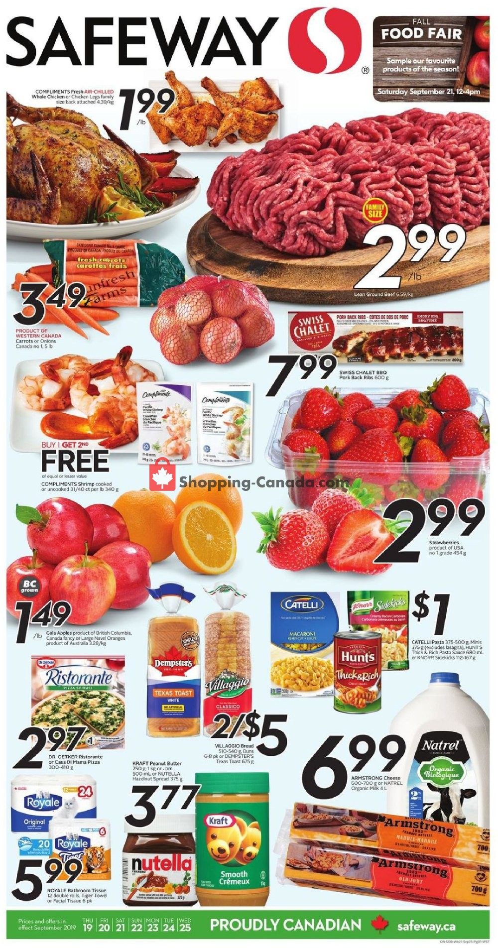 Flyer Safeway Canada - from Thursday September 19, 2019 to Wednesday September 25, 2019