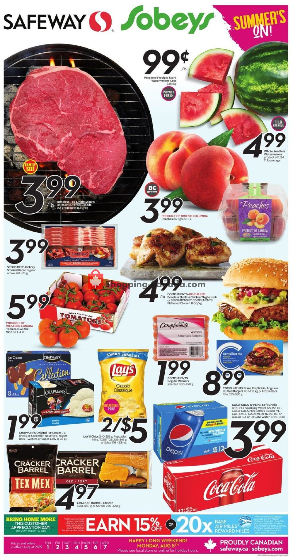 Flyer Safeway Canada - from Thursday August 1, 2019 to Wednesday August 7, 2019