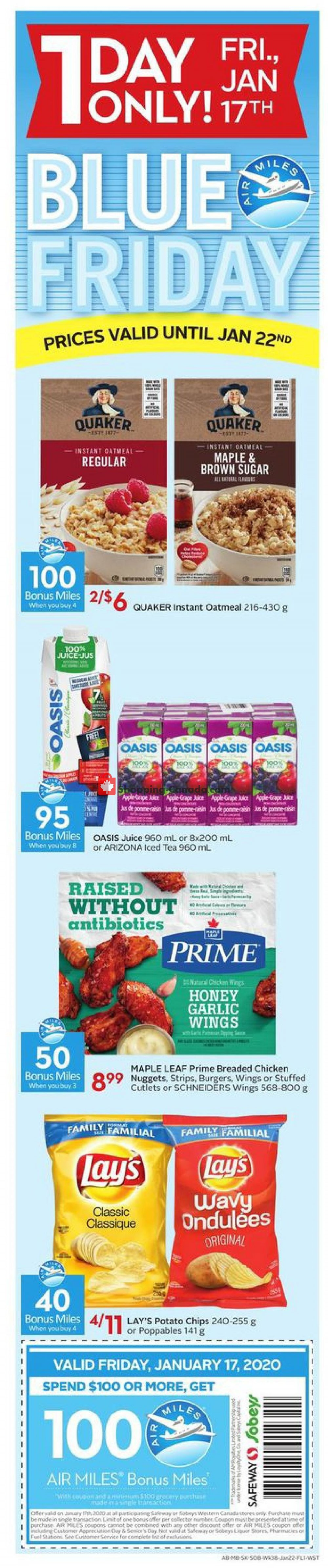 Flyer Safeway Canada - from Thursday January 16, 2020 to Wednesday January 22, 2020