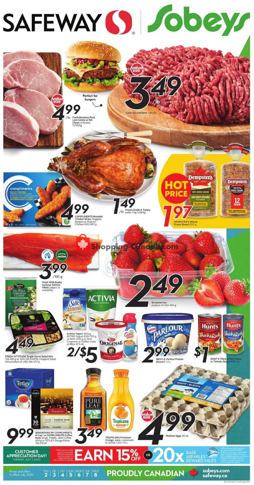 Flyer Safeway Canada - from Thursday July 2, 2020 to Wednesday July 8, 2020