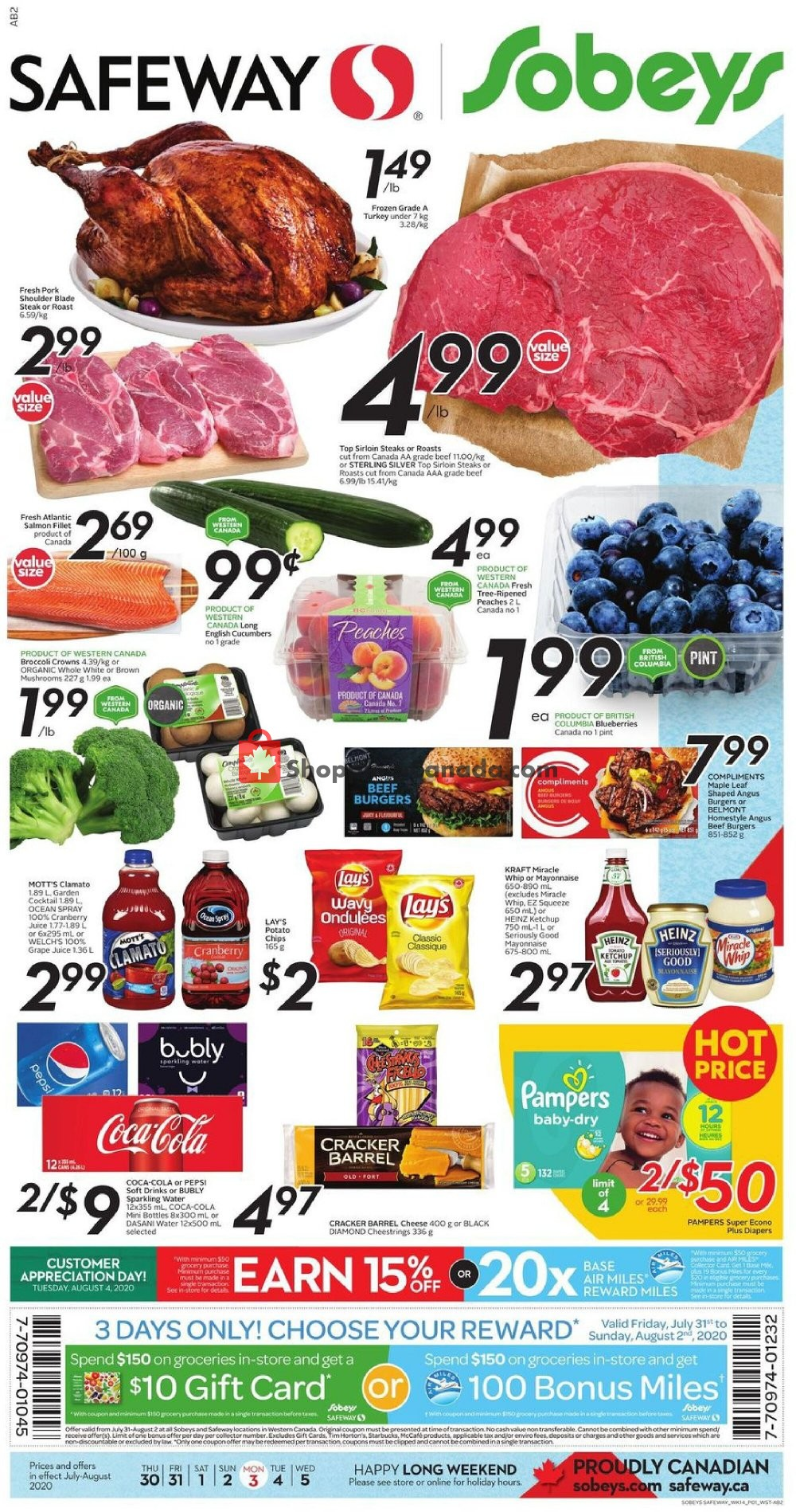Flyer Safeway Canada - from Thursday July 30, 2020 to Wednesday August 5, 2020