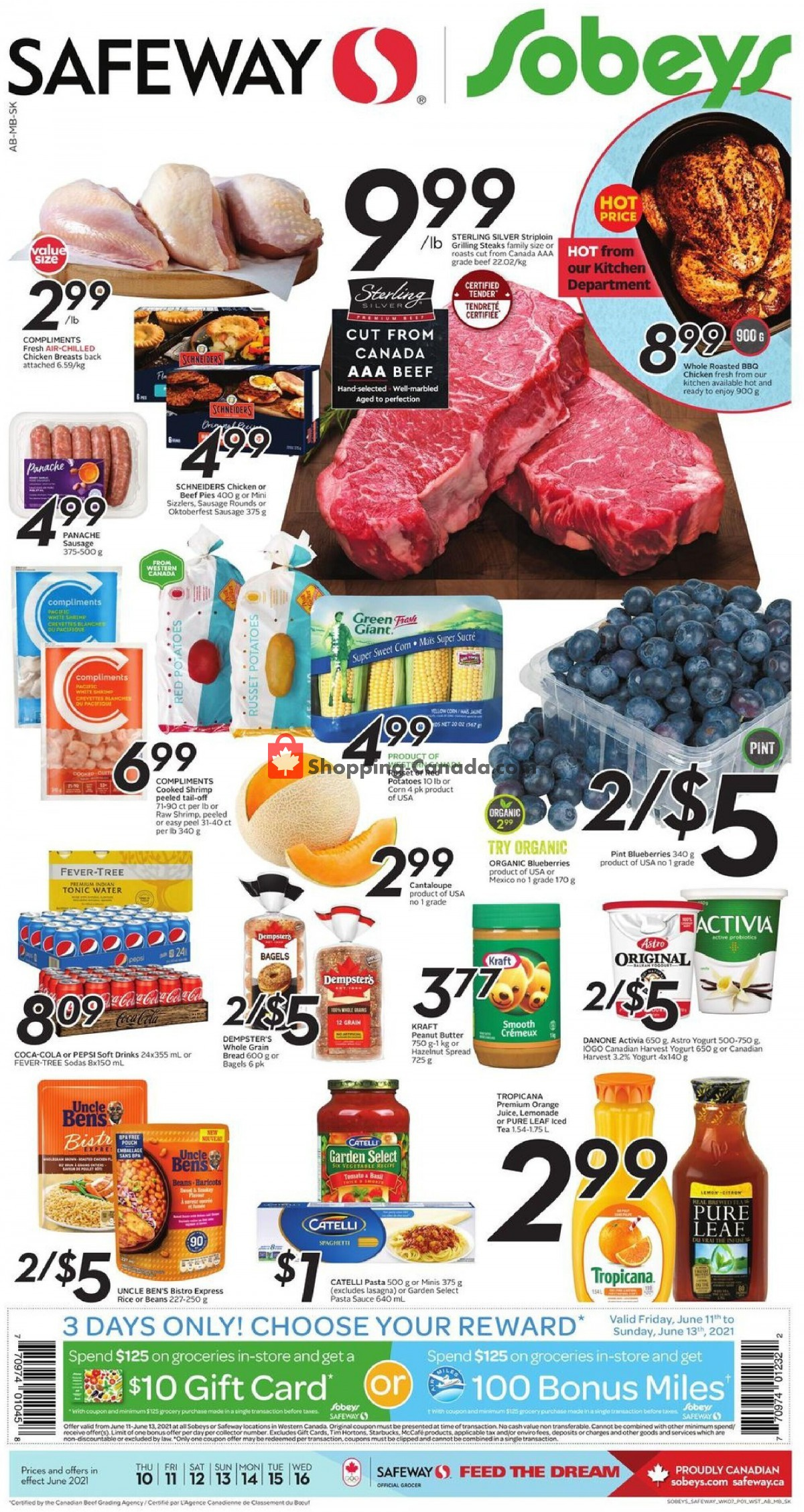 Flyer Safeway Canada - from Thursday June 10, 2021 to Wednesday June 16, 2021