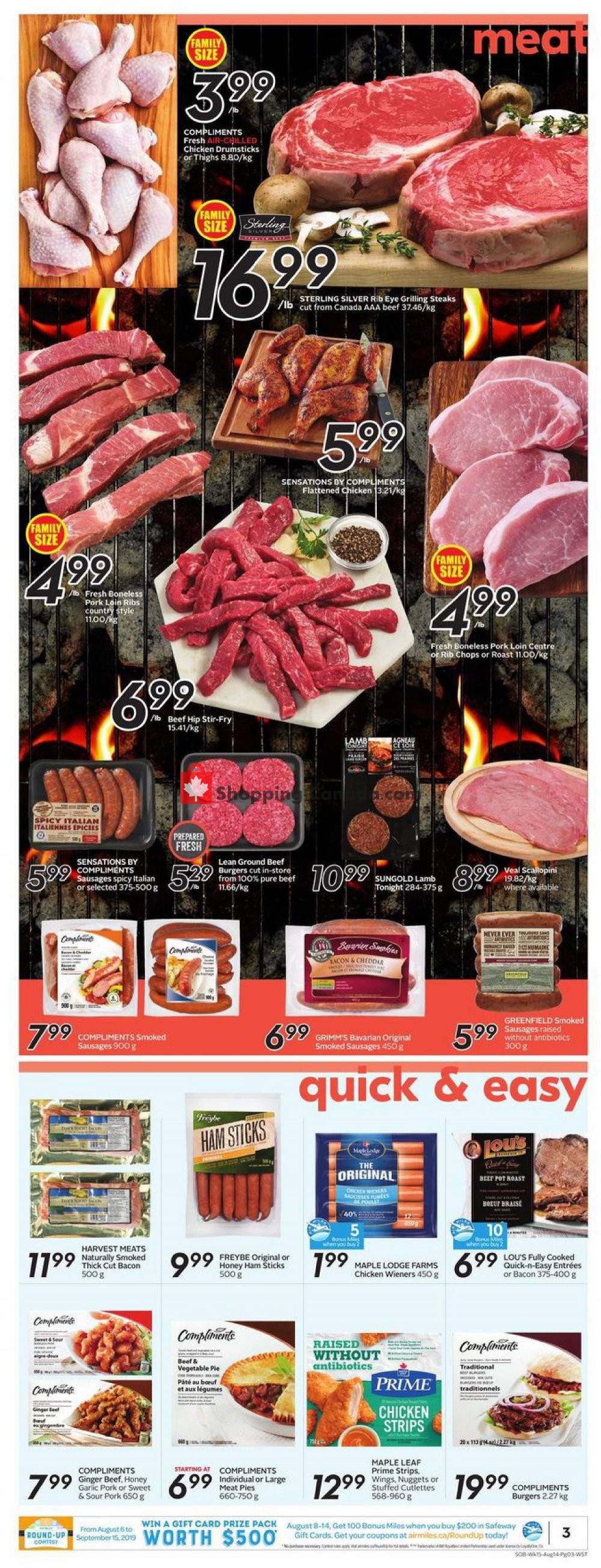 Flyer Safeway Canada - from Thursday August 8, 2019 to Wednesday August 14, 2019