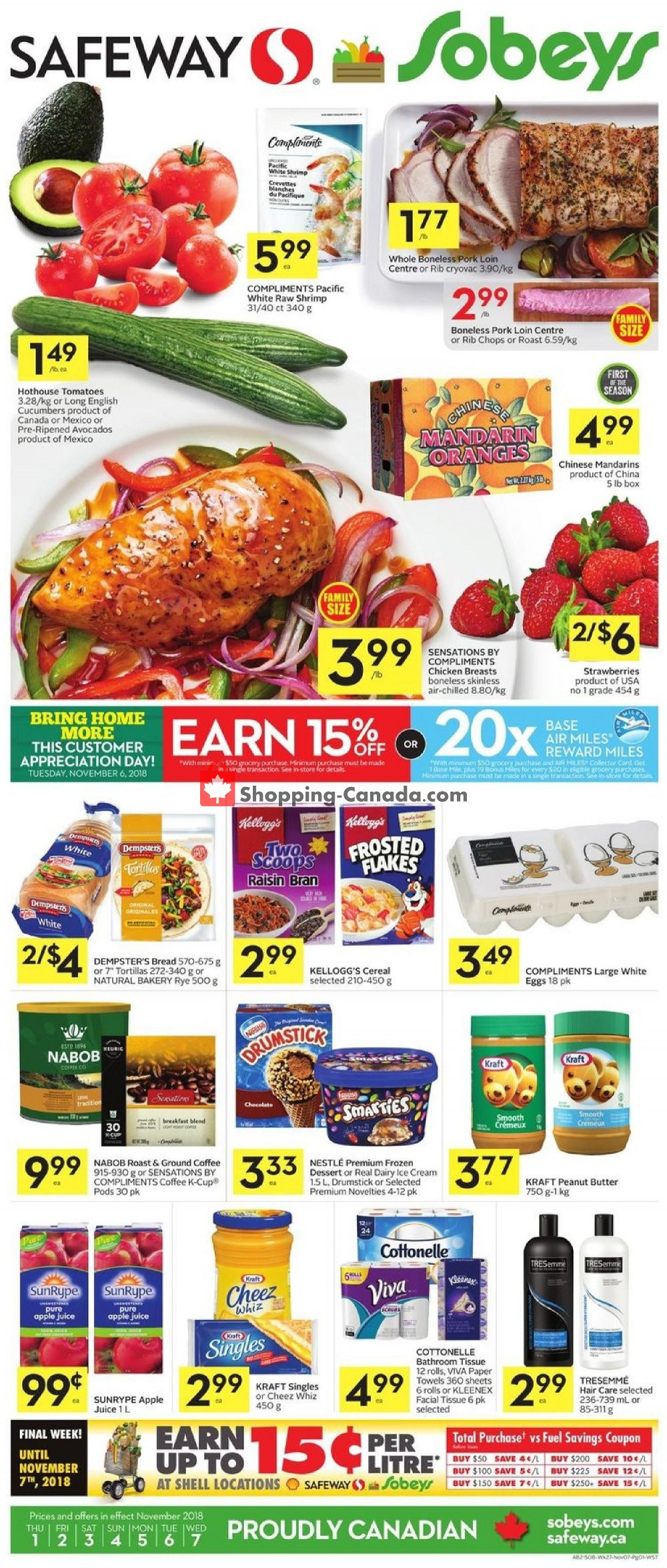 Flyer Safeway Canada - from Thursday November 1, 2018 to Wednesday November 7, 2018