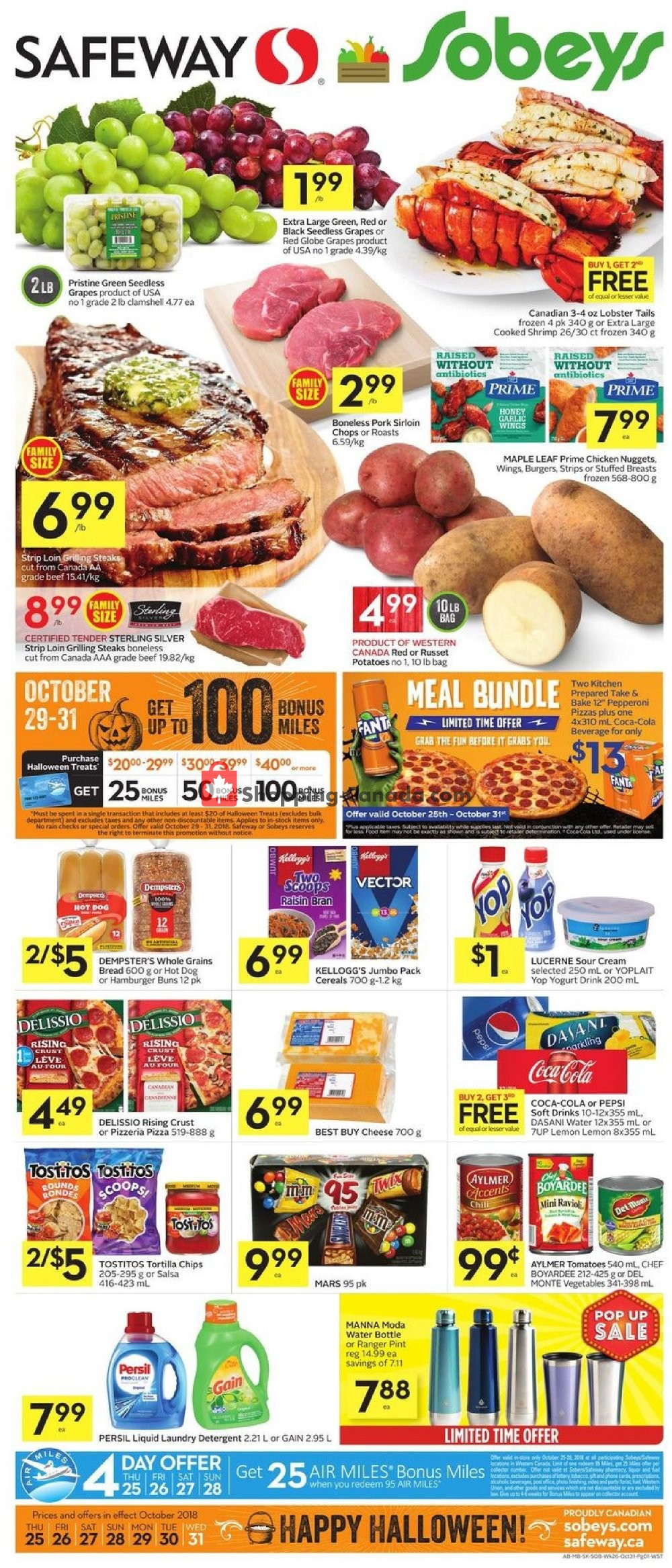 Flyer Safeway Canada - from Thursday October 25, 2018 to Wednesday October 31, 2018