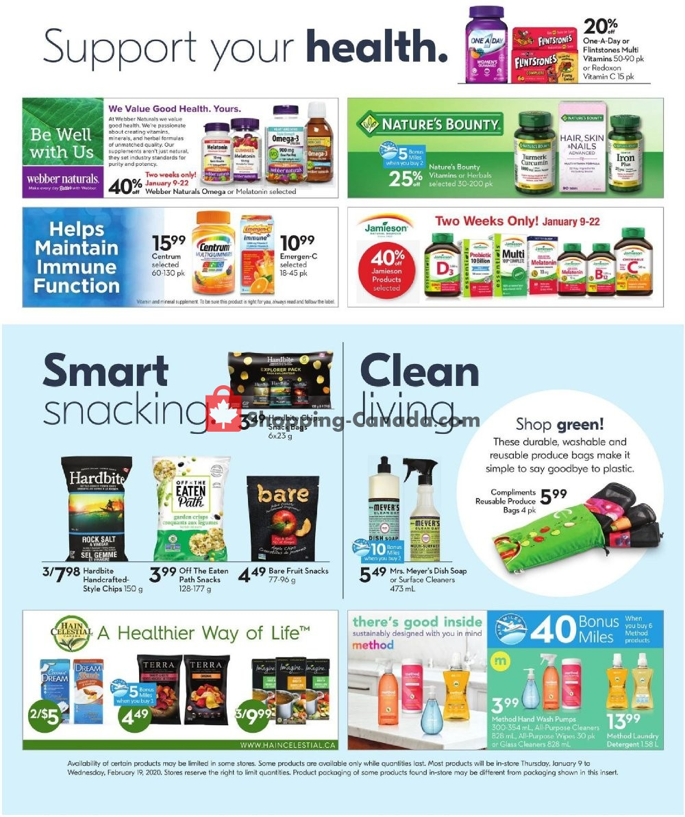 Flyer Safeway Canada - from Thursday January 9, 2020 to Wednesday February 19, 2020