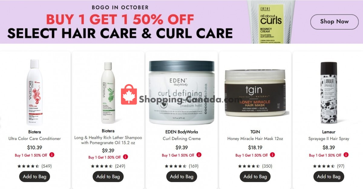 Flyer Sally Beauty Canada - from Tuesday October 5, 2021 to Monday October 11, 2021