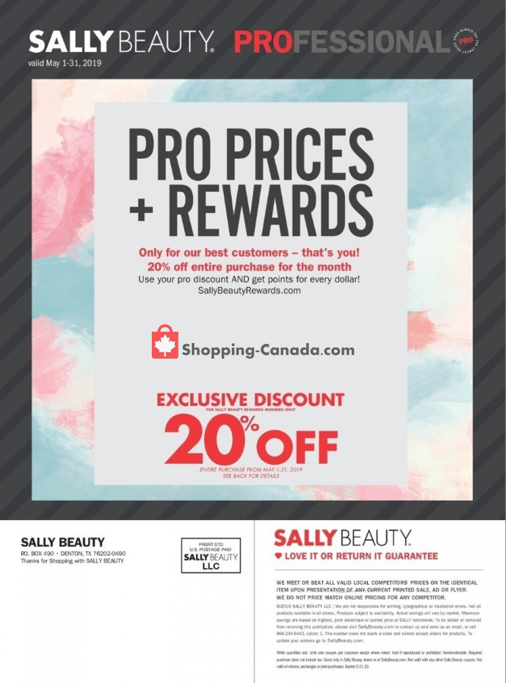 Flyer Sally Beauty Canada - from Wednesday May 1, 2019 to Friday May 31, 2019