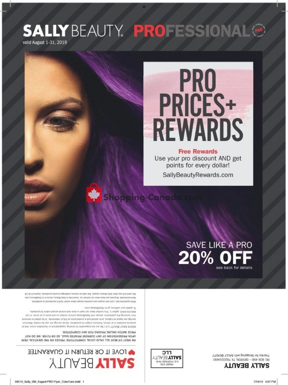 Flyer Sally Beauty Canada - from Thursday August 1, 2019 to Saturday August 31, 2019