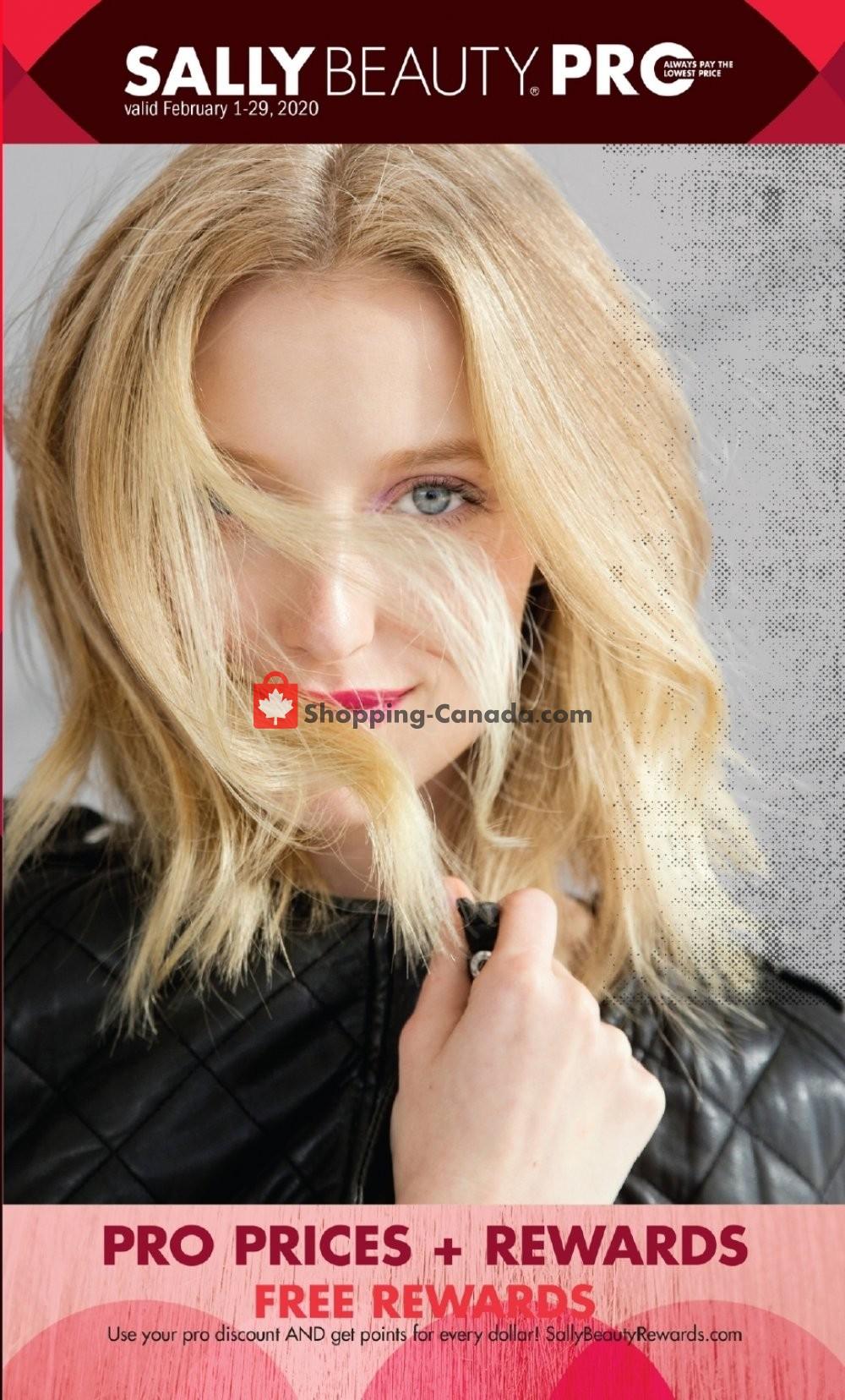 Flyer Sally Beauty Canada - from Saturday February 1, 2020 to Saturday February 29, 2020
