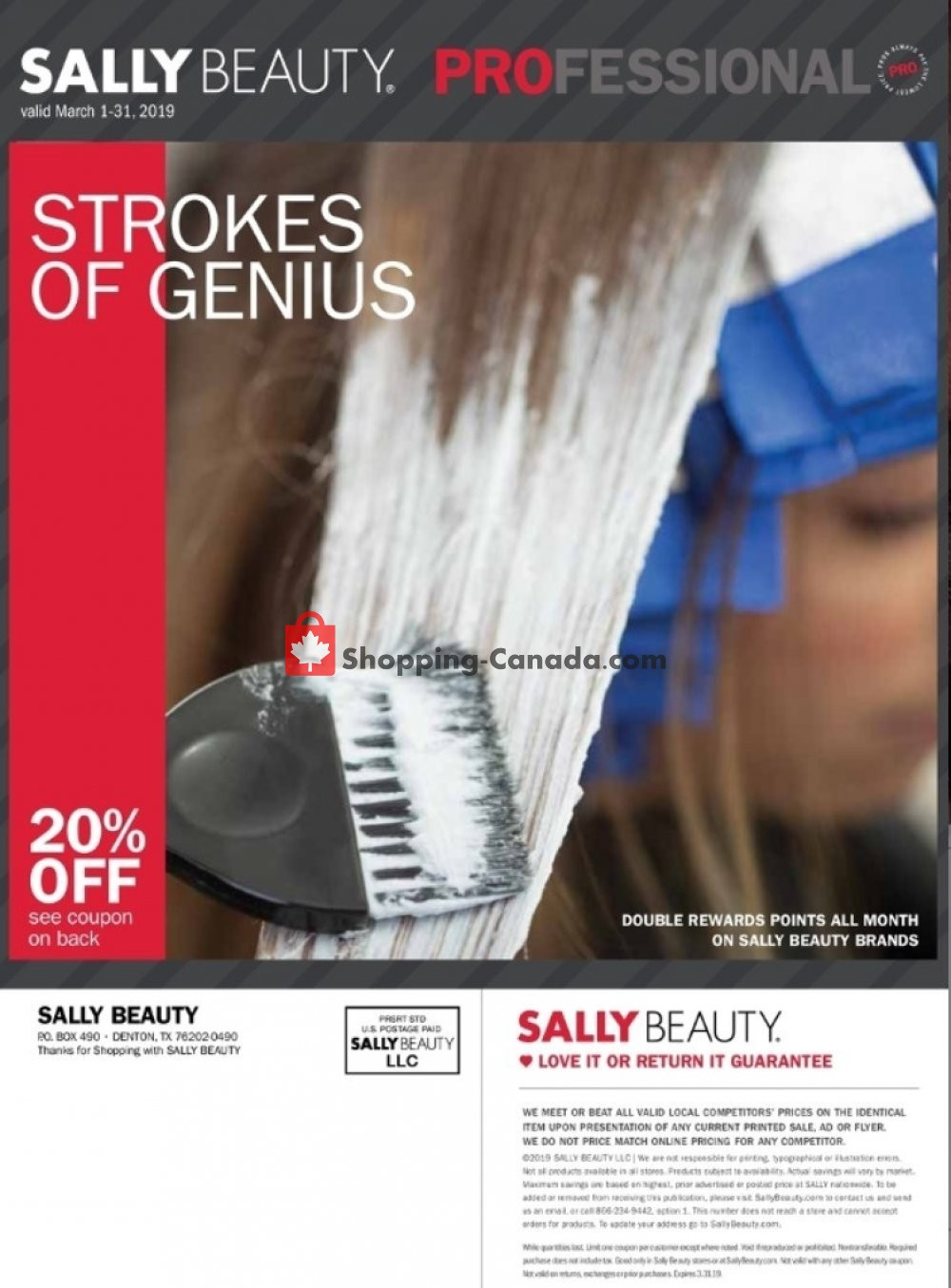 Flyer Sally Beauty Canada - from Friday March 1, 2019 to Sunday March 31, 2019