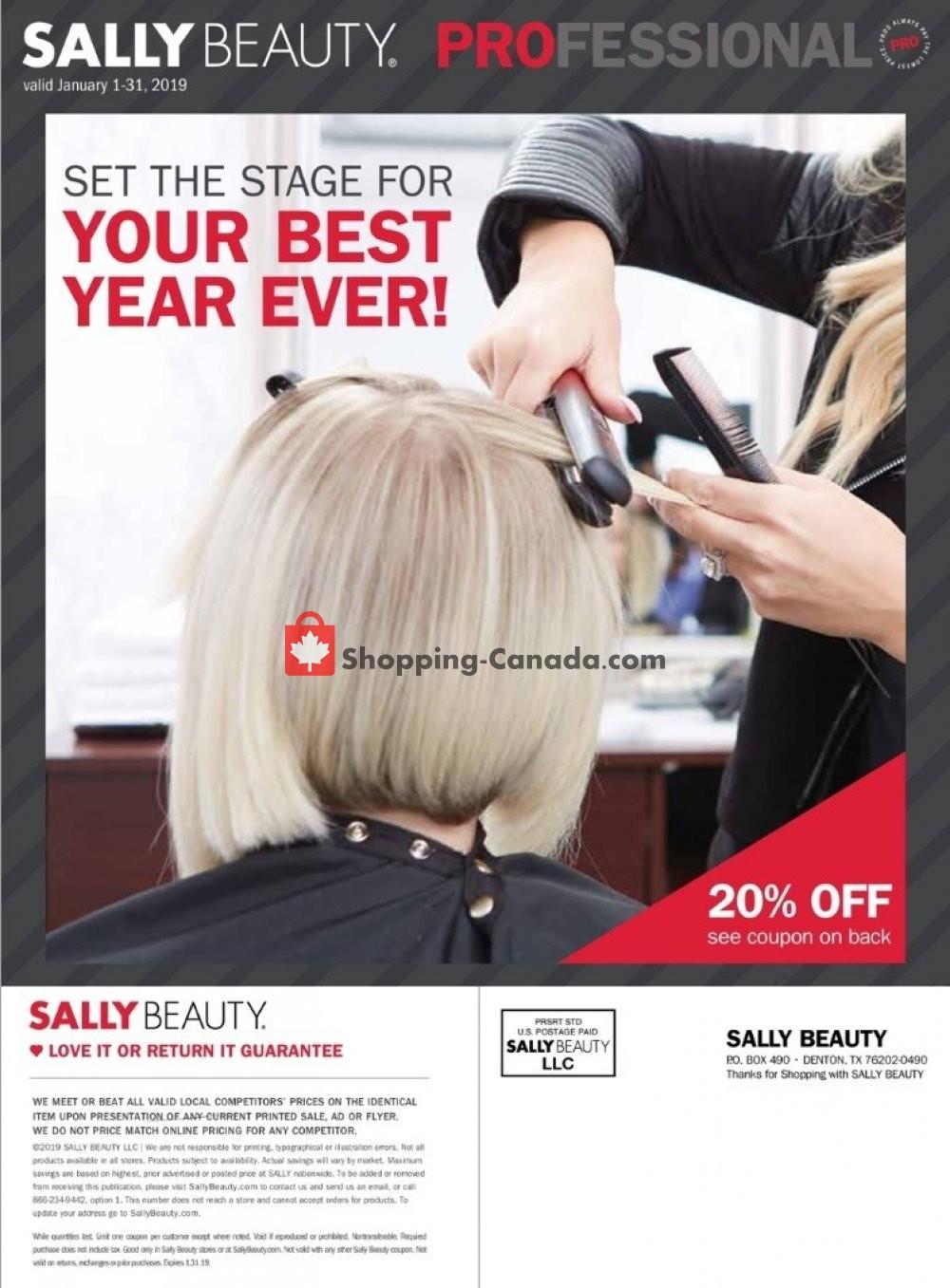 Flyer Sally Beauty Canada - from Tuesday January 1, 2019 to Thursday January 31, 2019