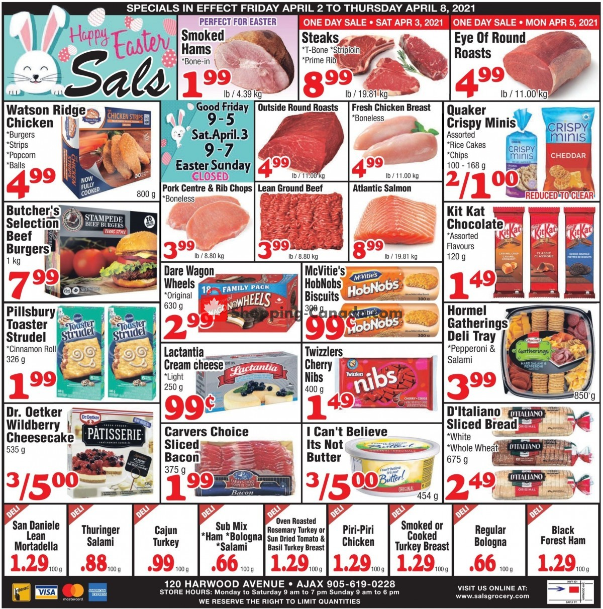 Flyer Sal's Grocery Canada - from Friday April 2, 2021 to Thursday April 8, 2021