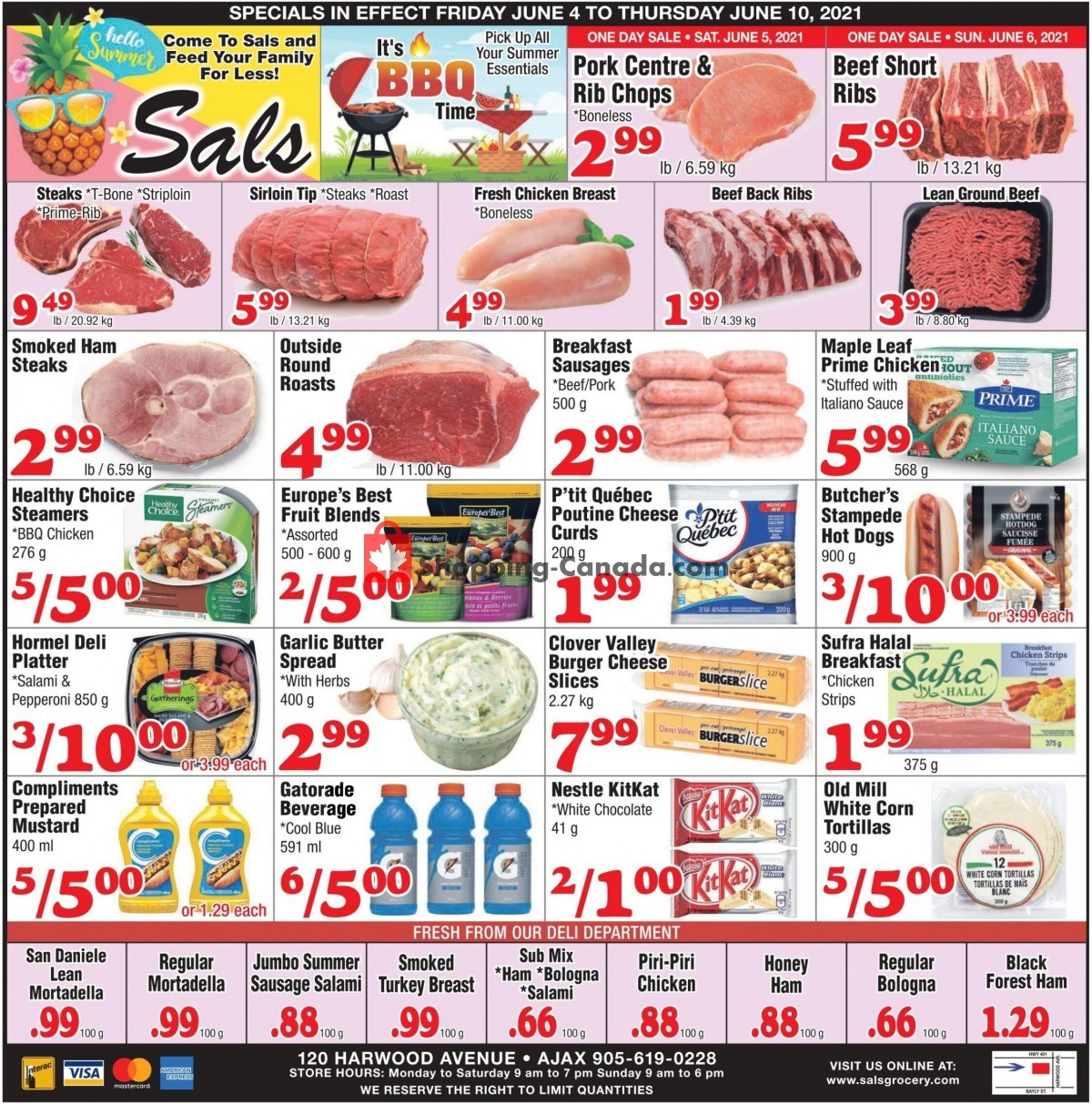 Flyer Sal's Grocery Canada - from Friday June 4, 2021 to Thursday June 10, 2021