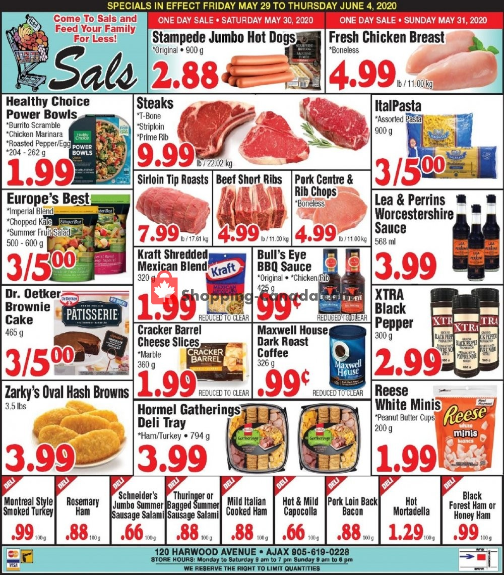 Flyer Sal's Grocery Canada - from Friday May 29, 2020 to Thursday June 4, 2020
