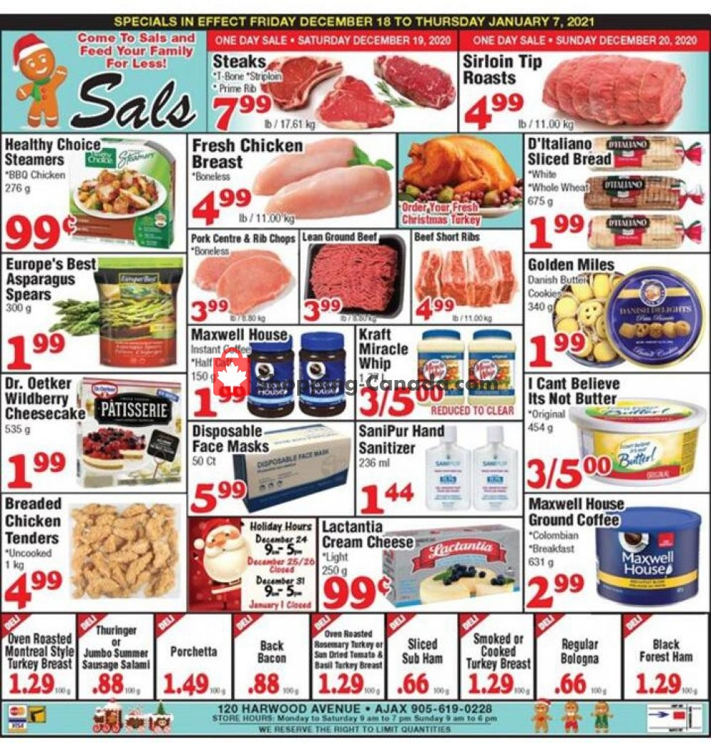 Flyer Sal's Grocery Canada - from Friday December 18, 2020 to Thursday January 7, 2021