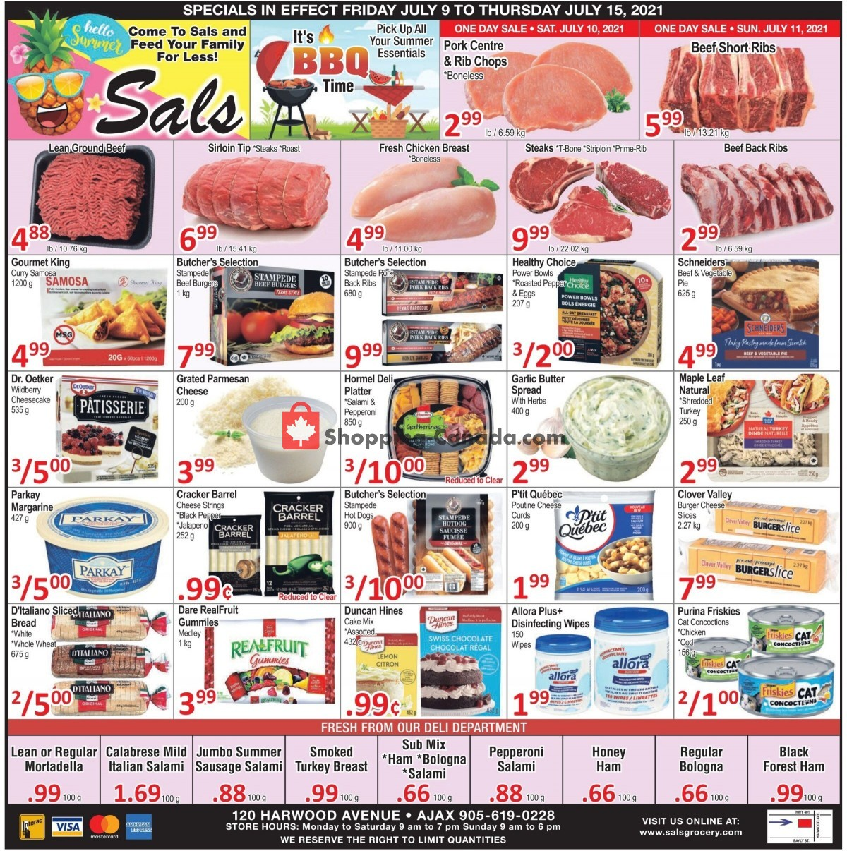 Flyer Sal's Grocery Canada - from Friday July 9, 2021 to Thursday July 15, 2021