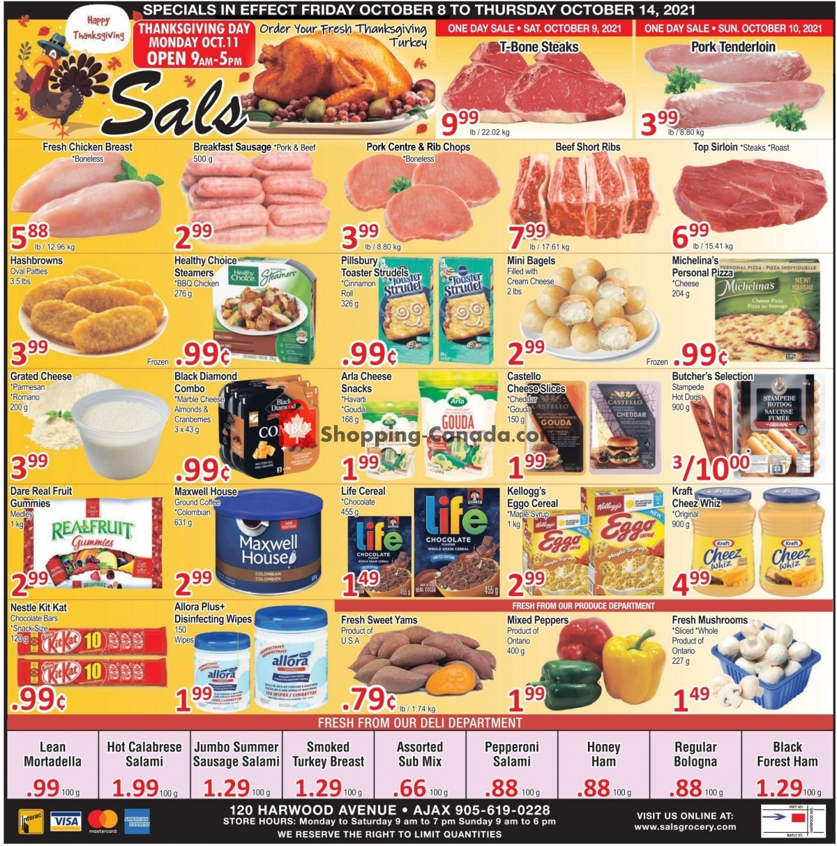 Flyer Sal's Grocery Canada - from Friday October 8, 2021 to Thursday October 14, 2021