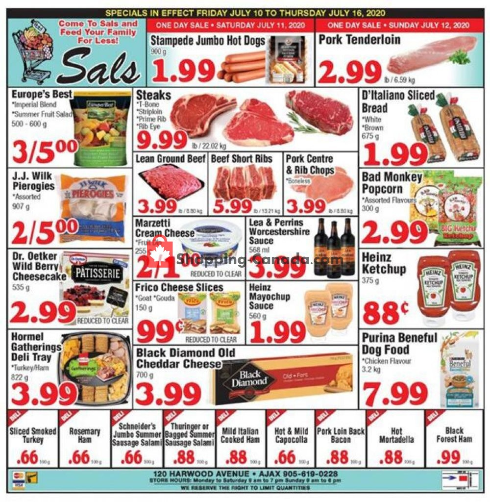 Flyer Sal's Grocery Canada - from Friday July 10, 2020 to Thursday July 16, 2020