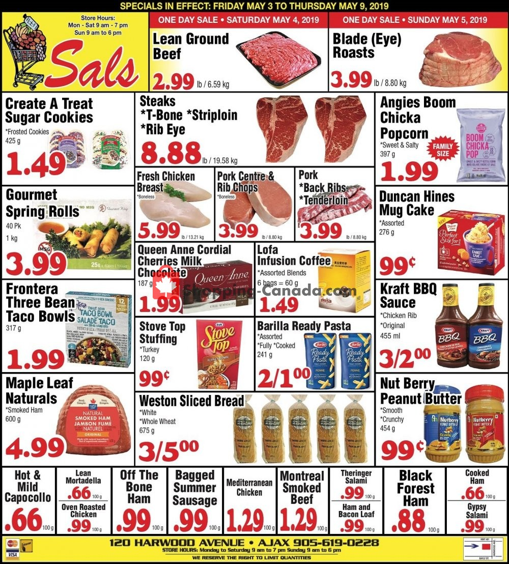 Flyer Sal's Grocery Canada - from Friday May 3, 2019 to Thursday May 9, 2019